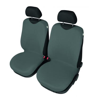 4CARS T Shirt Seat Cover Front Seats Dark Grey
