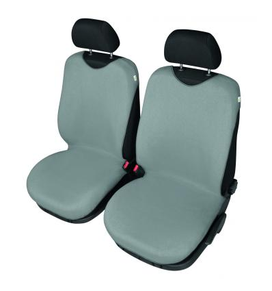 4CARS T Shirt Seat Cover Front Seats Grey
