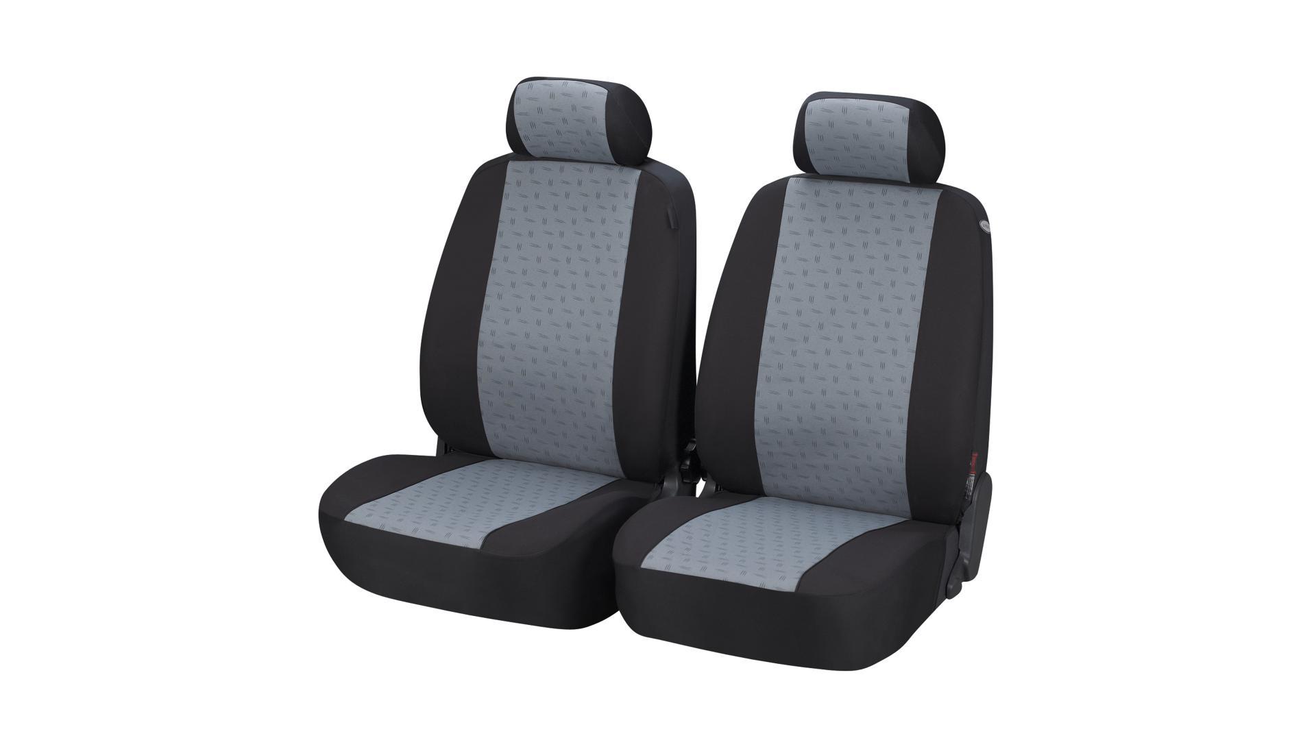 Walser Autopoťah Positano čierno-sivy 2 sedadlá