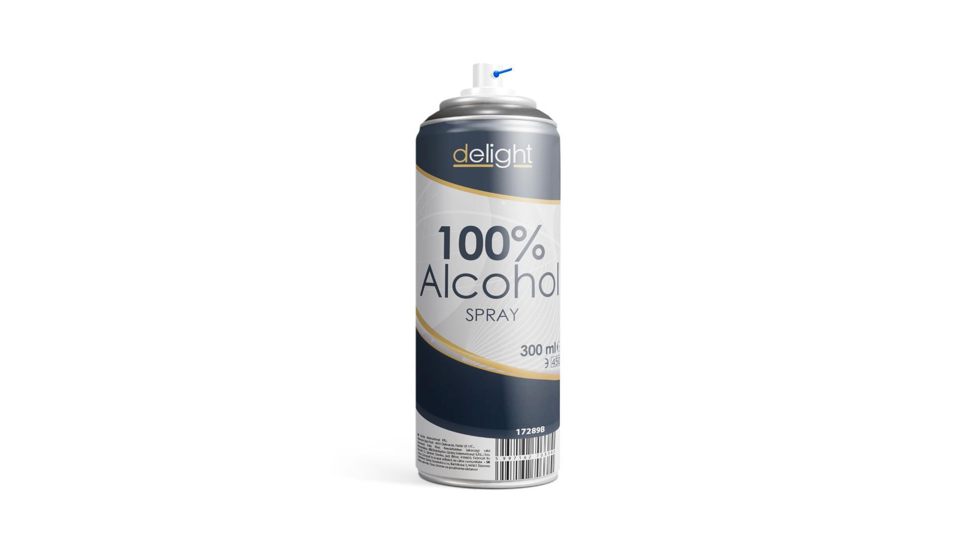 Delight 100% Dezinfekčný Alkohol sprej 300ml