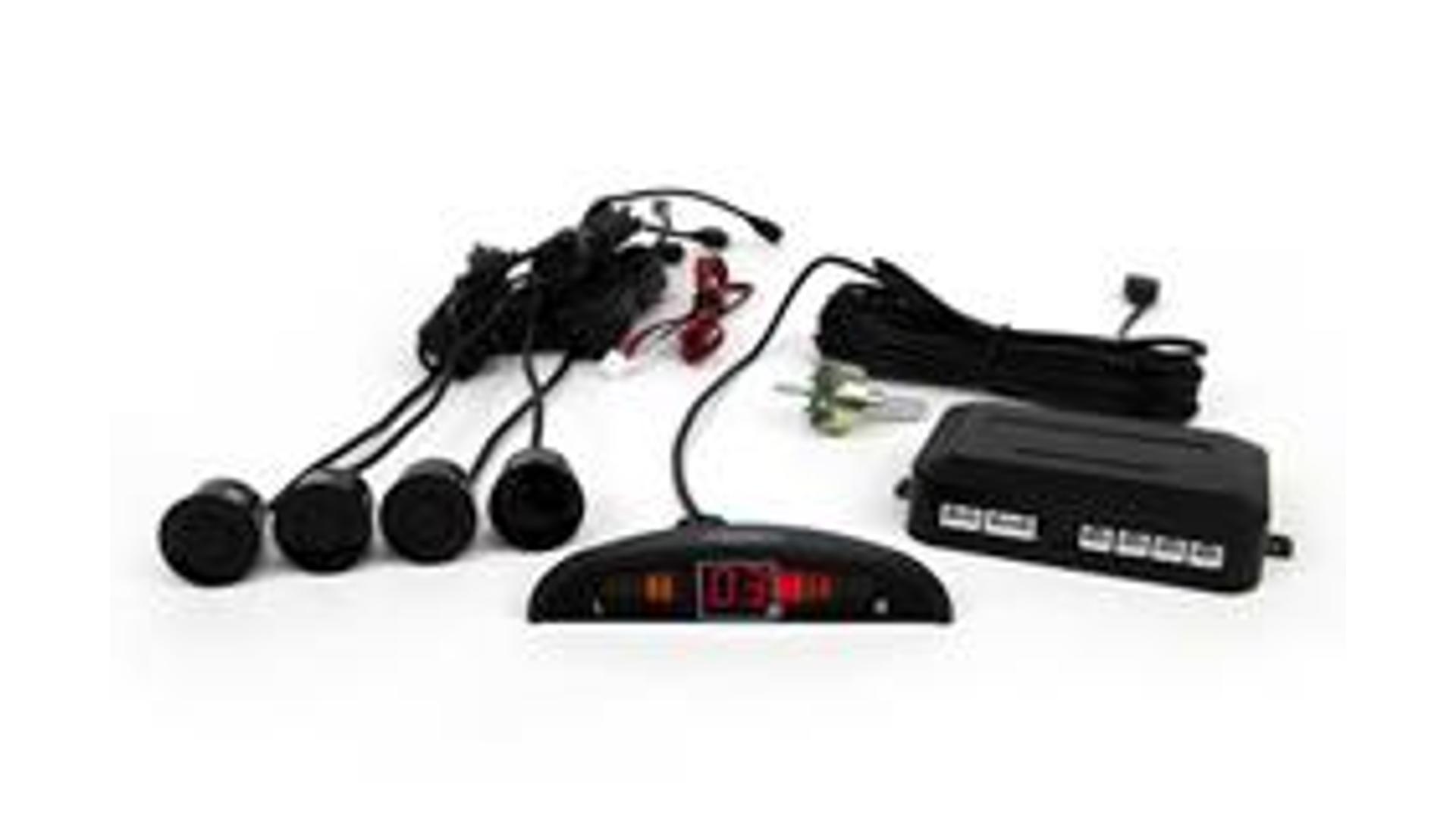 Parkovací asistent s LED monitorom vzdialenosti, 4 senzory