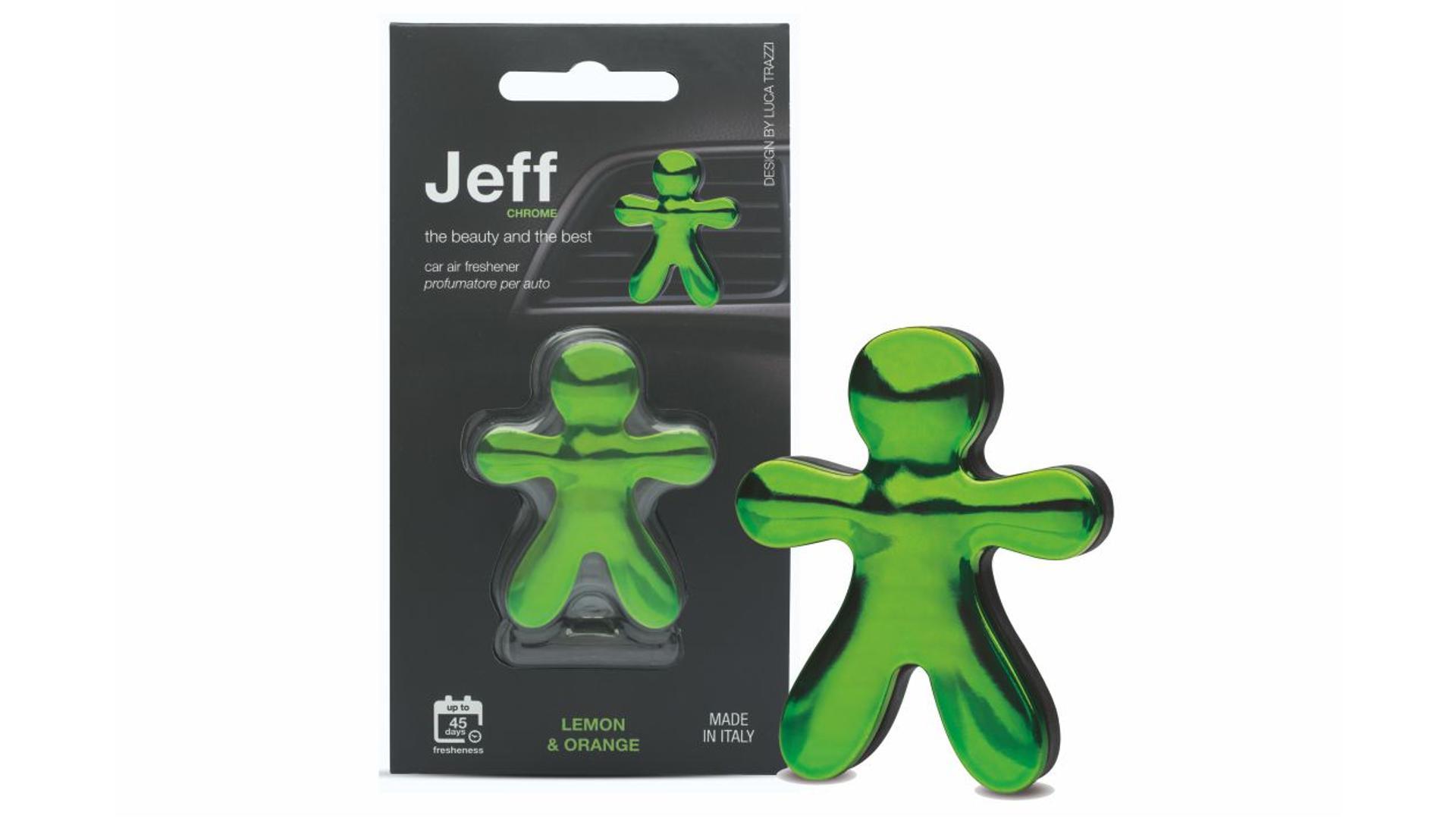 JEFF osviežovač vzduchu zelený chrome - Lemon & Orange