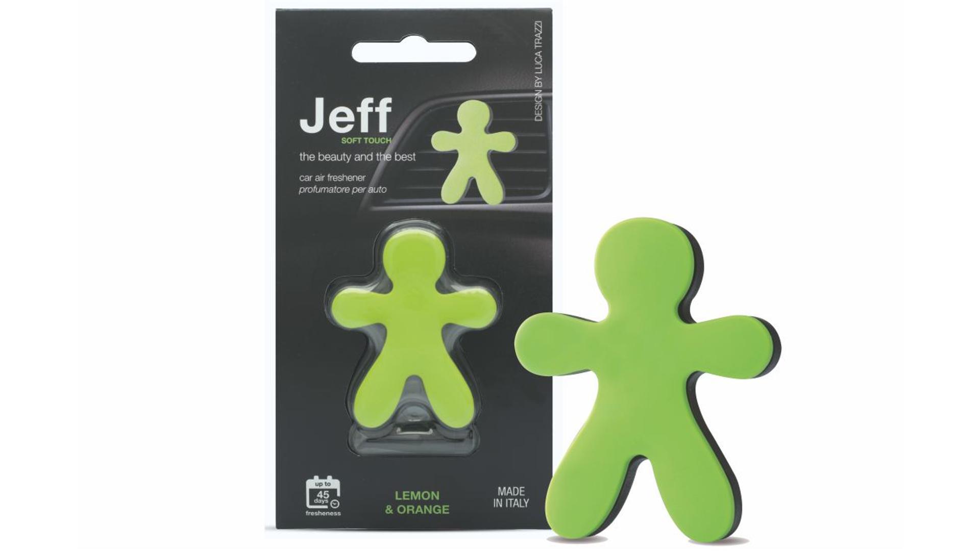 JEFF osviežovač vzduchu zelený soft - Lemon & Orange