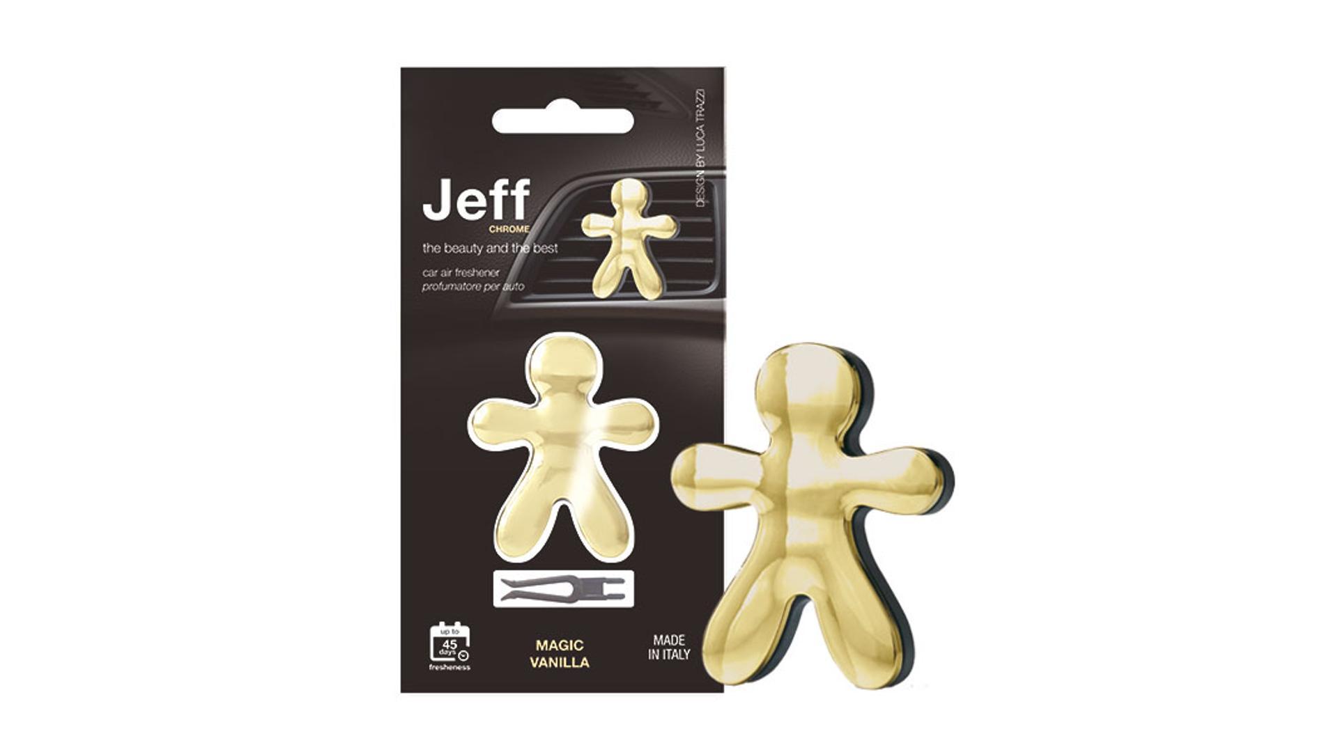 JEFF osviežovač vzduchu zlatý chrome -  Magic Vanilla