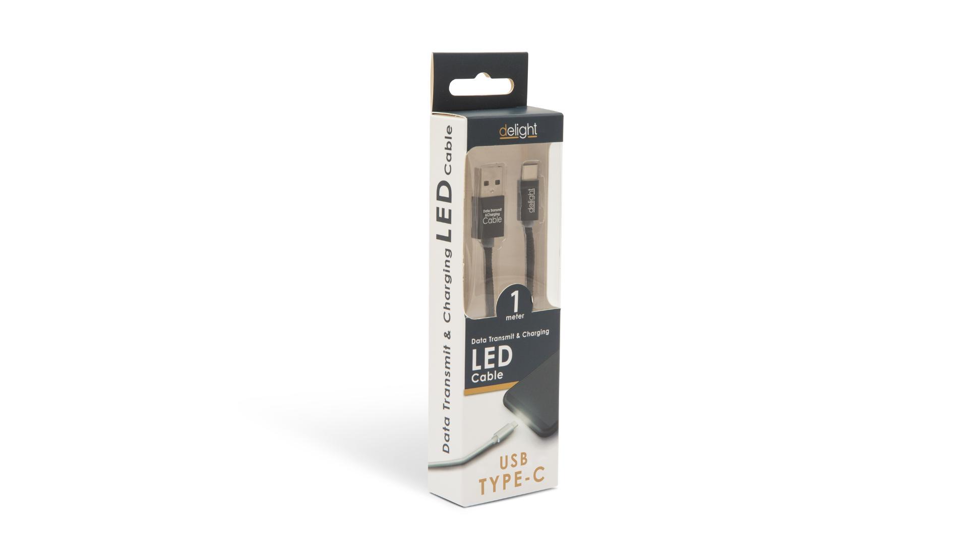 DELIGHT Dátový kábel - USB Typ - C