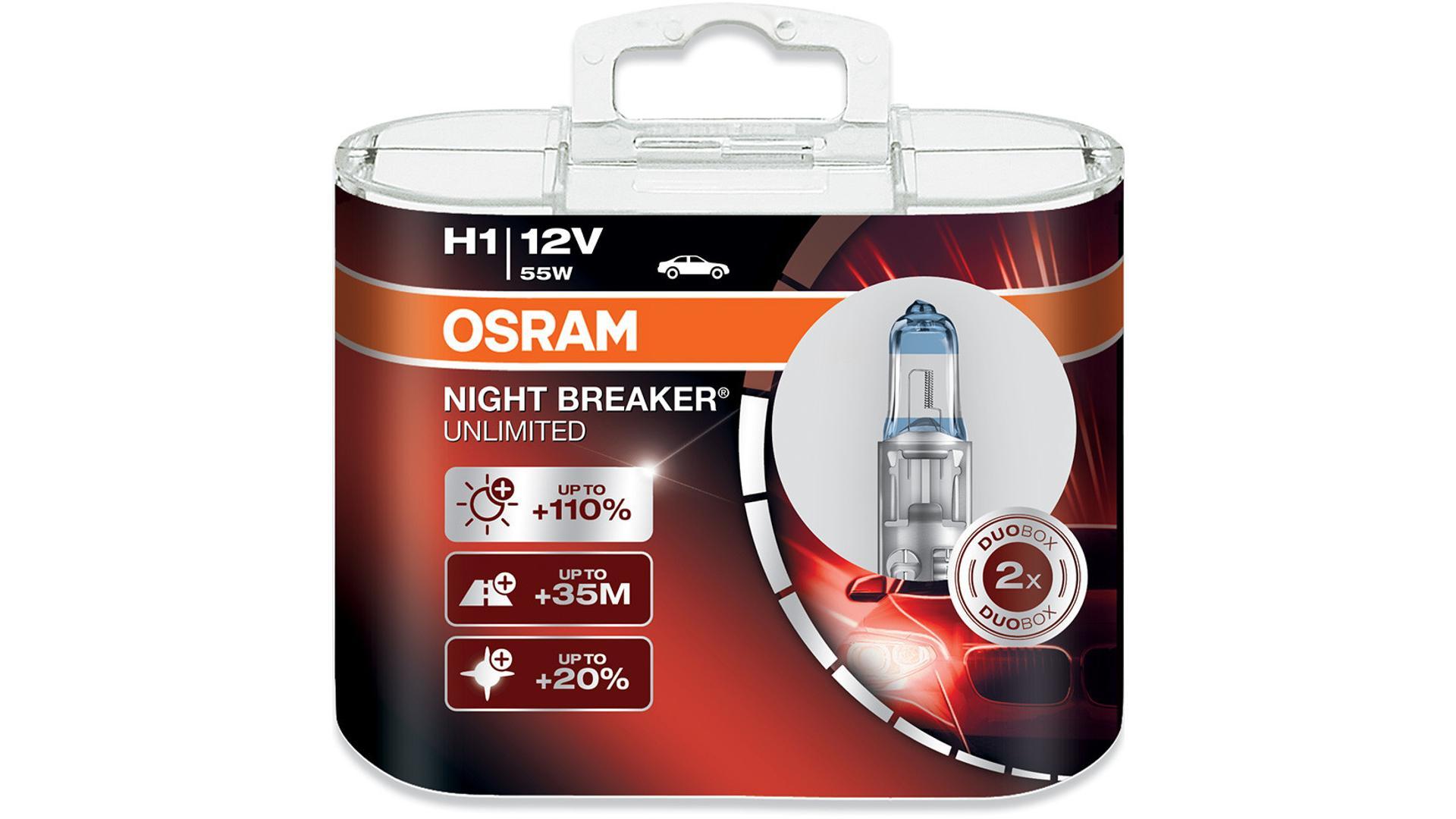 OSRAM Žiarovka 12V 55W P14,5s H1 NIGHT BREAKER® LASER BOX 64150NL-HCB