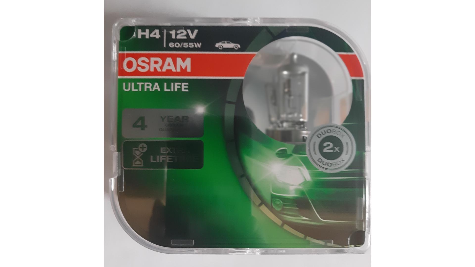 OSRAM Žiarovka 12V 60/55W P43T H4 ULTRA LIFE BOX