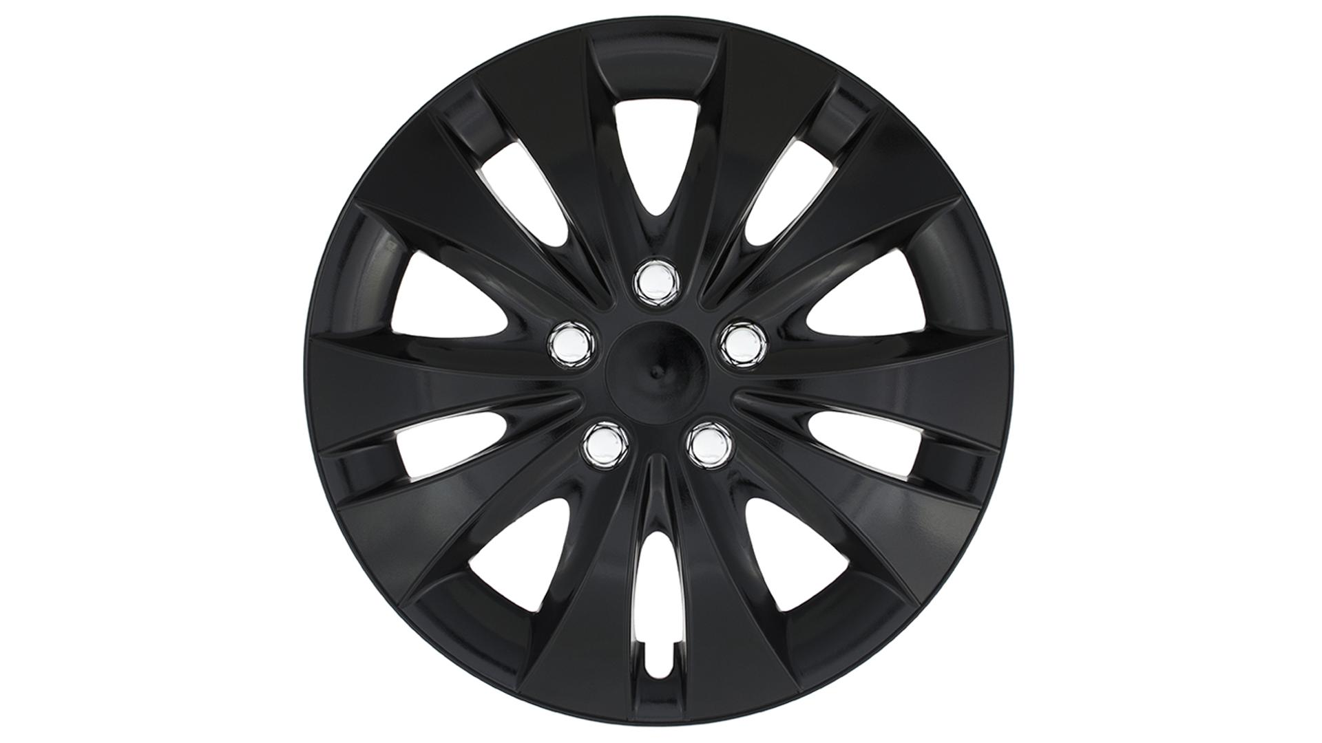 "Jestic 15"" STORM CHROME BLACK set 4ks"