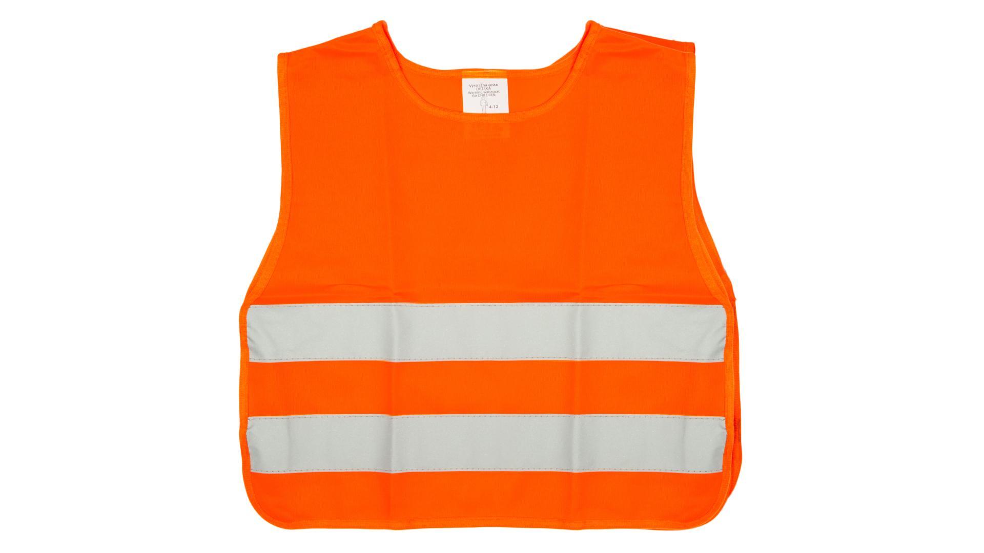 DETSKÁ reflexná vesta oranžová 4CARS