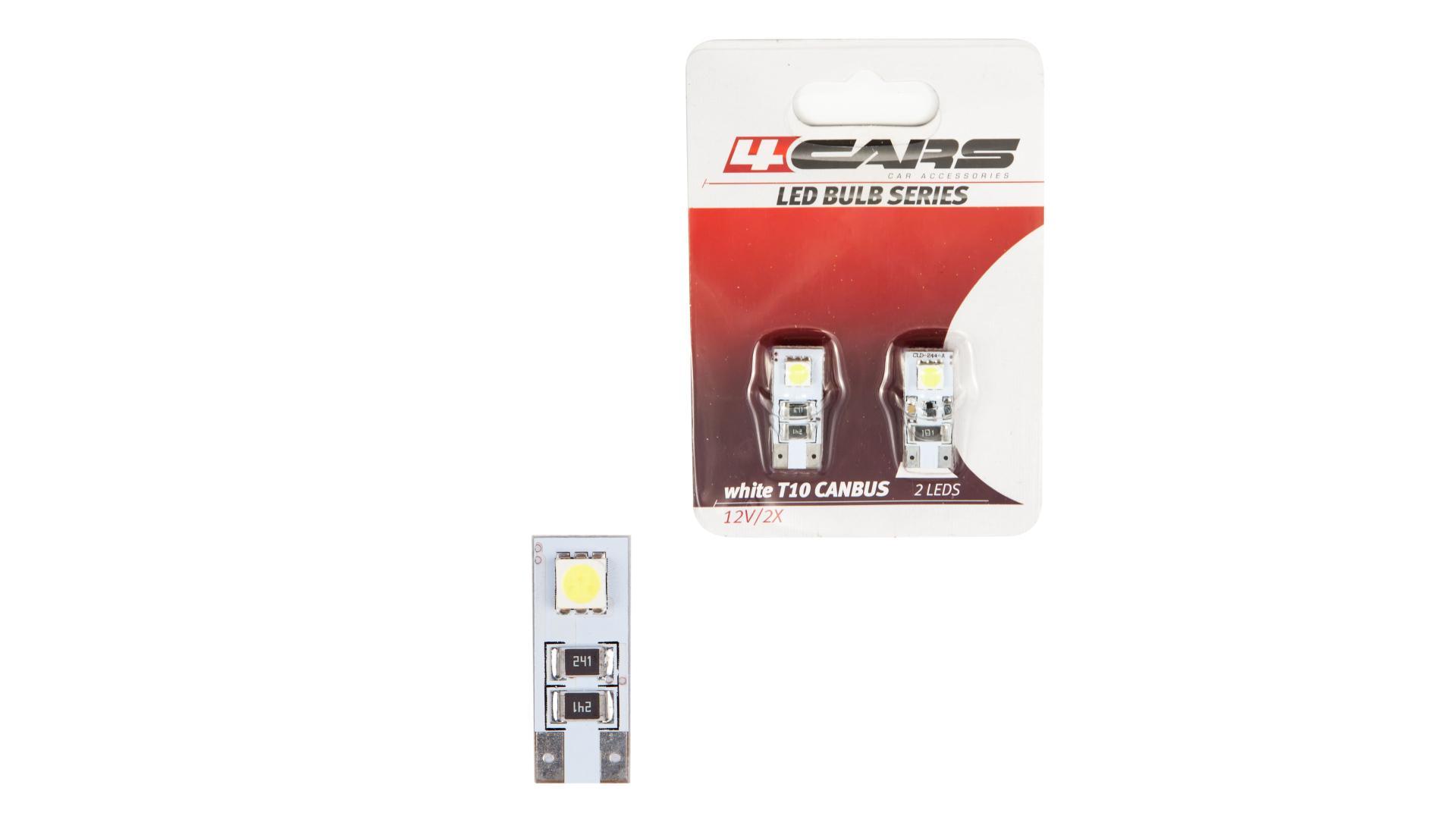 4CARS LED ŽIAROVKA 2LED 12V CANBUS 5050SMD T10