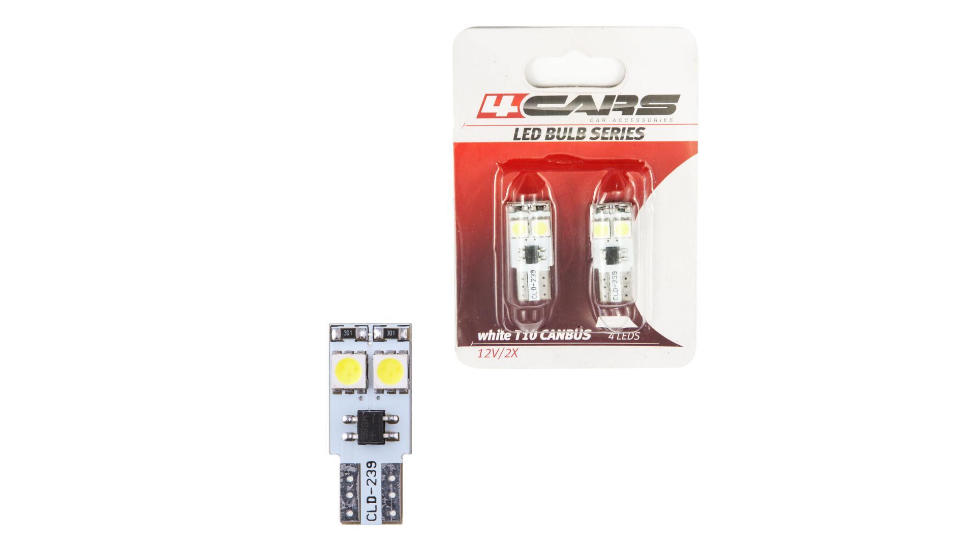 LED ŽIAROVKA 4LED 12V CANBUS 5050SMD T10