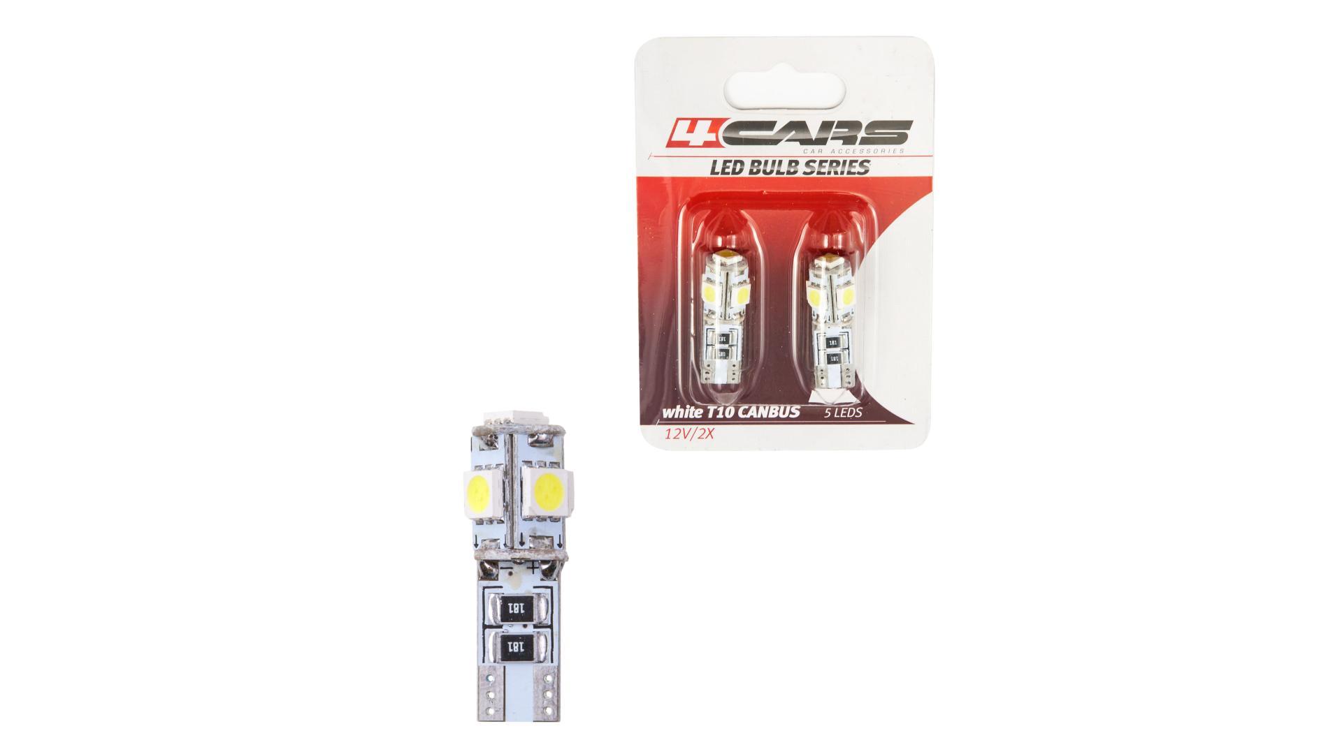 4CARS LED ŽIAROVKA 5LED 12V CANBUS 5050SMD T10
