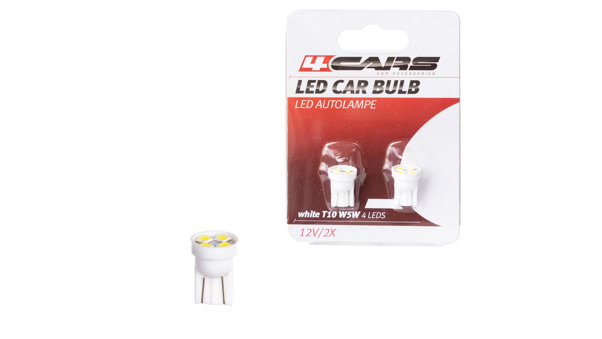 4CARS LED ŽIAROVKA 4LED 12V T10