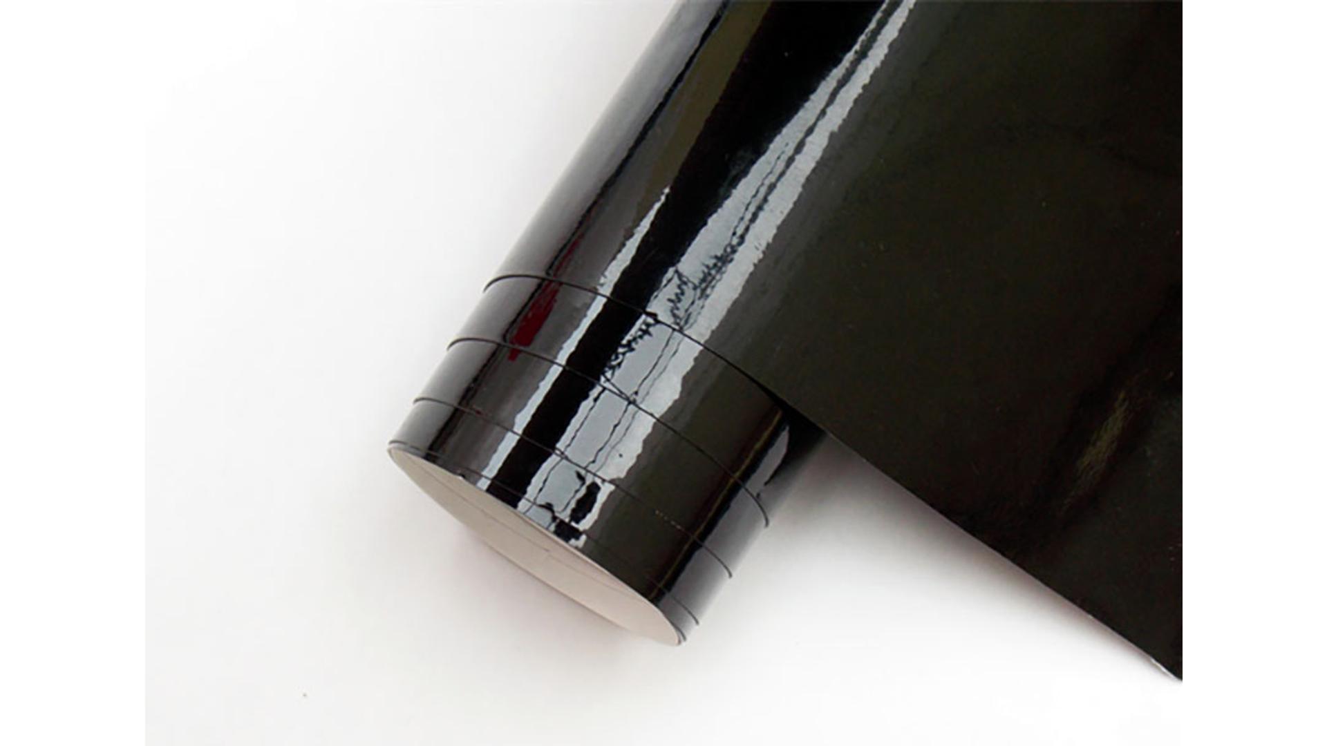 4CARS Auto fólia so vzduchovýmmi kanalikmi čierna lesklá 1bm