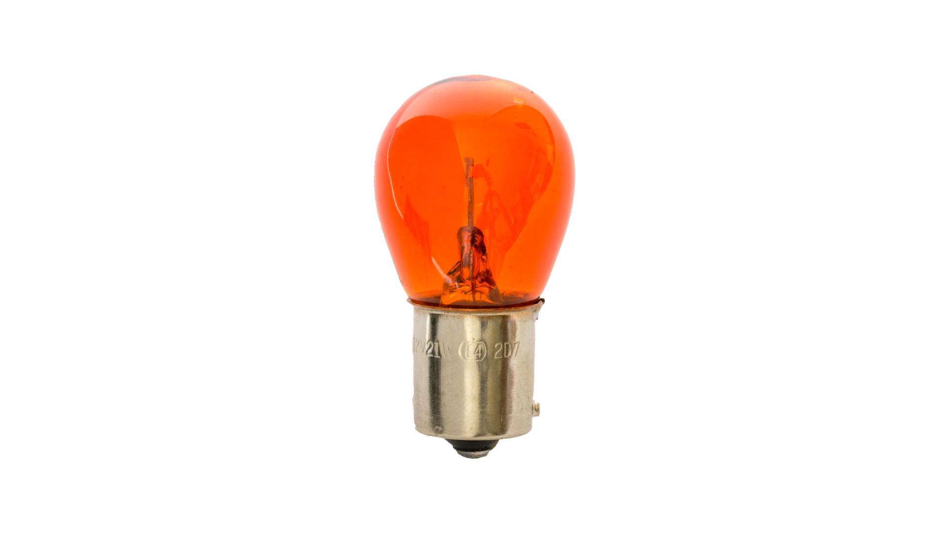 4CARS 12V 21W BAU15s oranžová 2ks (double blister)