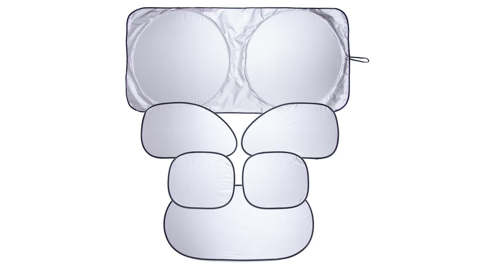 4CARS Sada tepelných clon ELASTIC malá - 1x čelná 142x67cm,1x zadná,4x bočná
