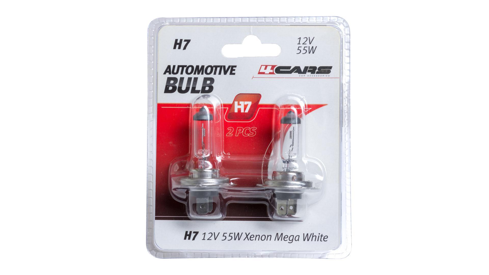 4CARS 12V H7 55W 2ks (double blister)