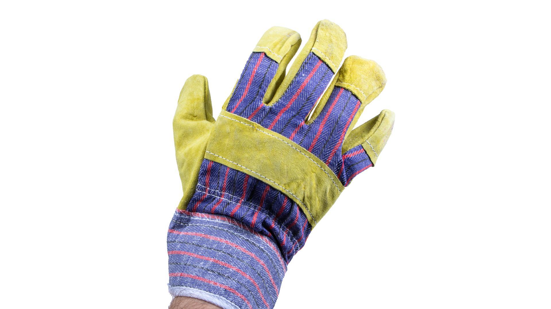 4CARS Pracovné rukavice - kožené hnedé