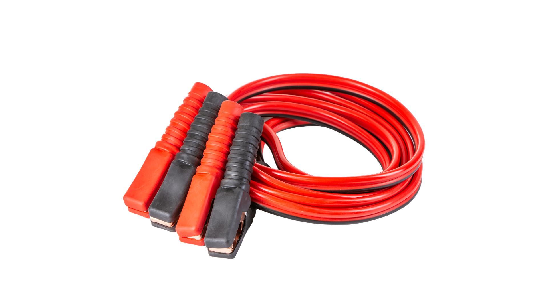 4 CARS Štartovací kábel - izolované kliešte 600AMP, 6.0MM?, 4M