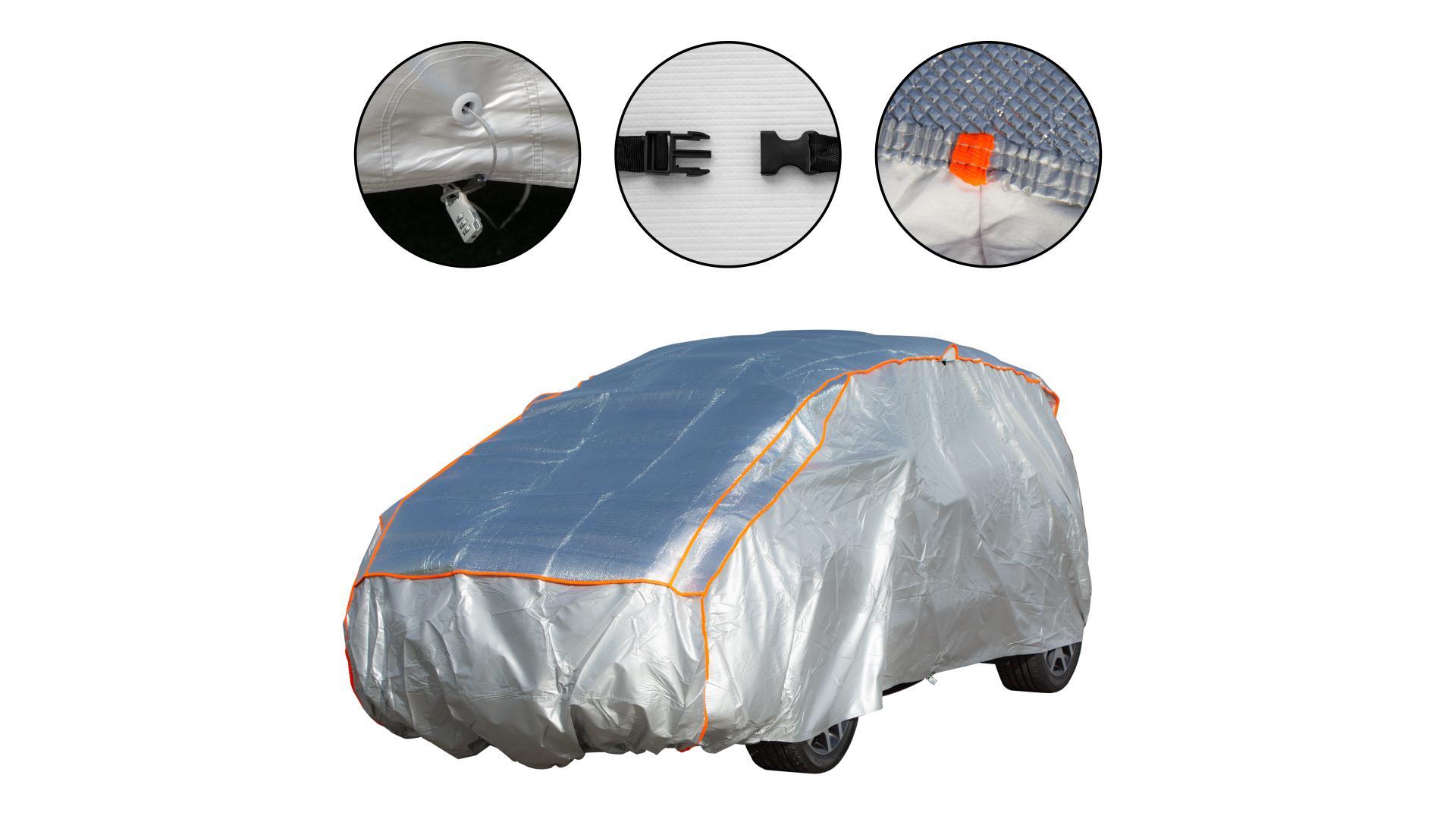 4CARS Autoplachta proti krupobitiu - bavlnená podšívka -  SUV XL