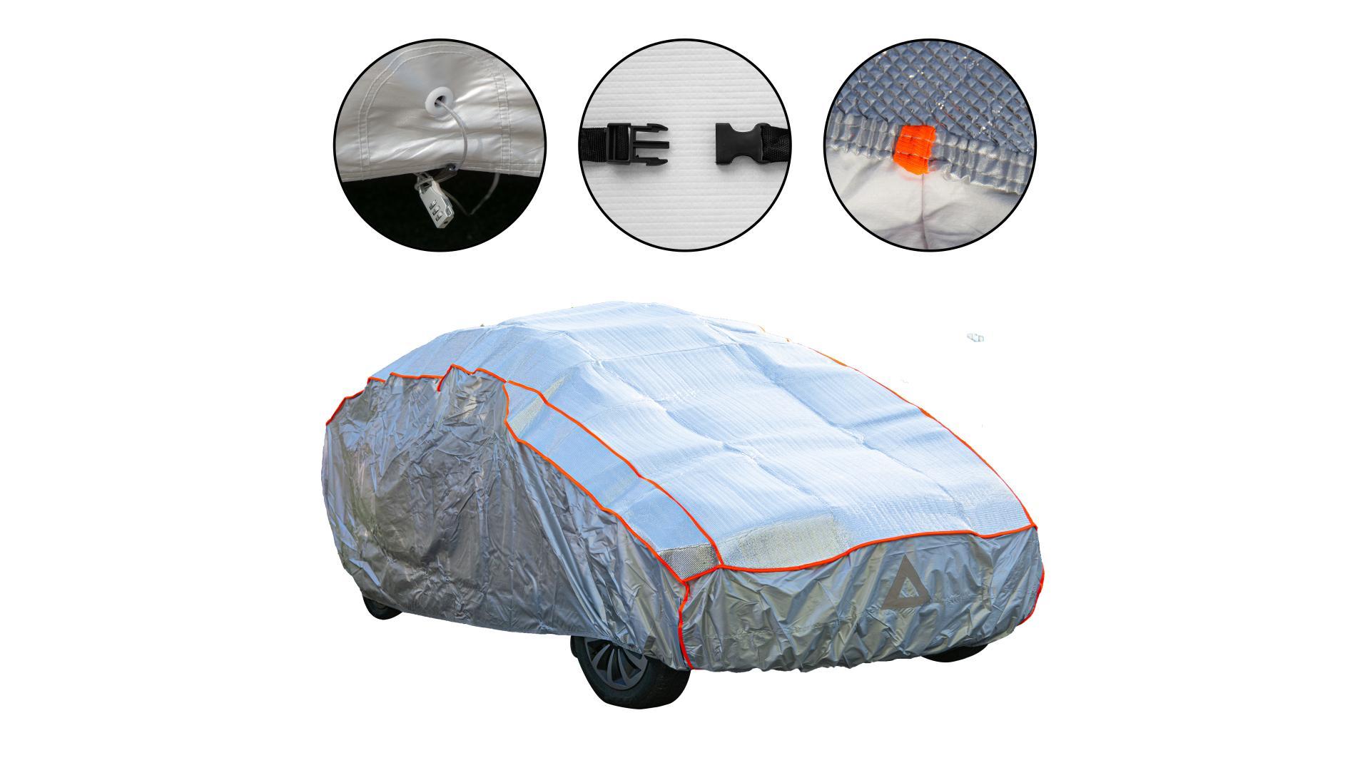 4CARS Autoplachta proti krupobitiu - bavlnená podšívka - XL