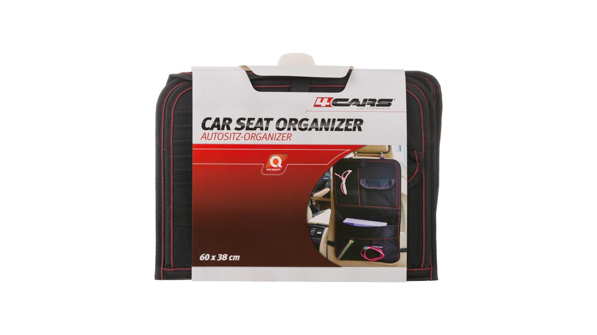 4CARS Závesný organizér zadného sedadla s vyklapacím stolíkom 60x38 cm