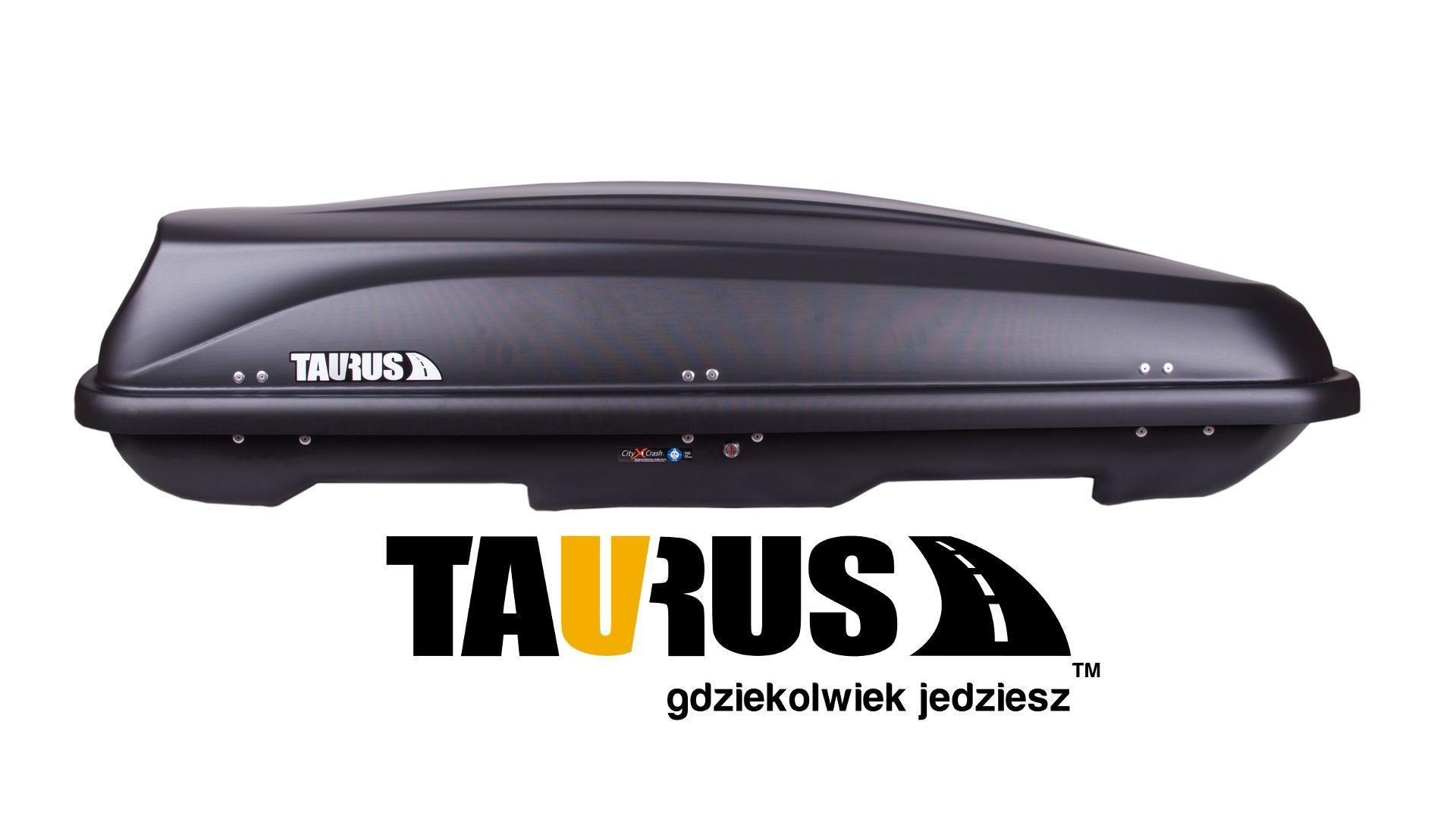 Taurus strešný box Xtreme II 600 (195x95x44) 600l. - čierny karbón (obojstranne otvárateľný)