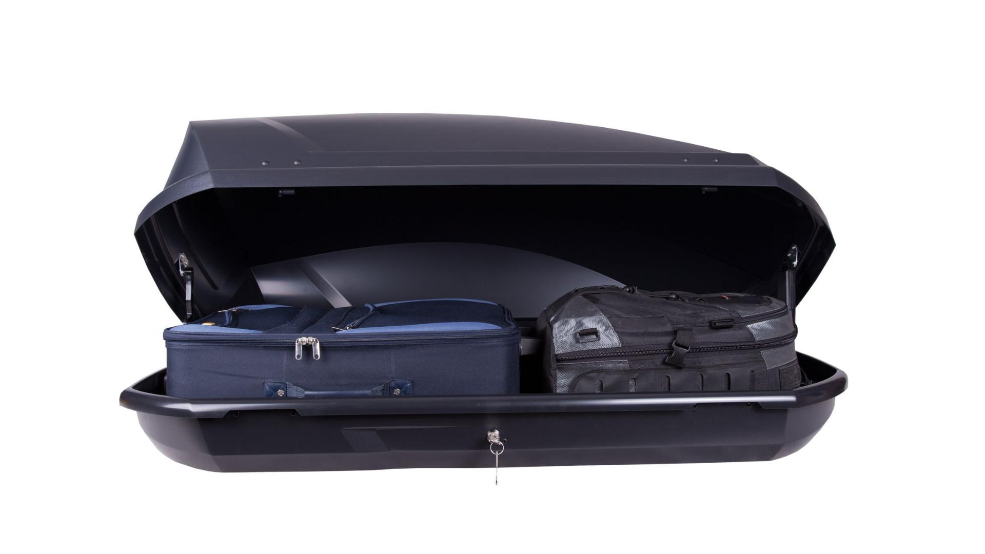 Taurus strešný box Adventure (131 x 72 x 37) 295l. - čierny matný