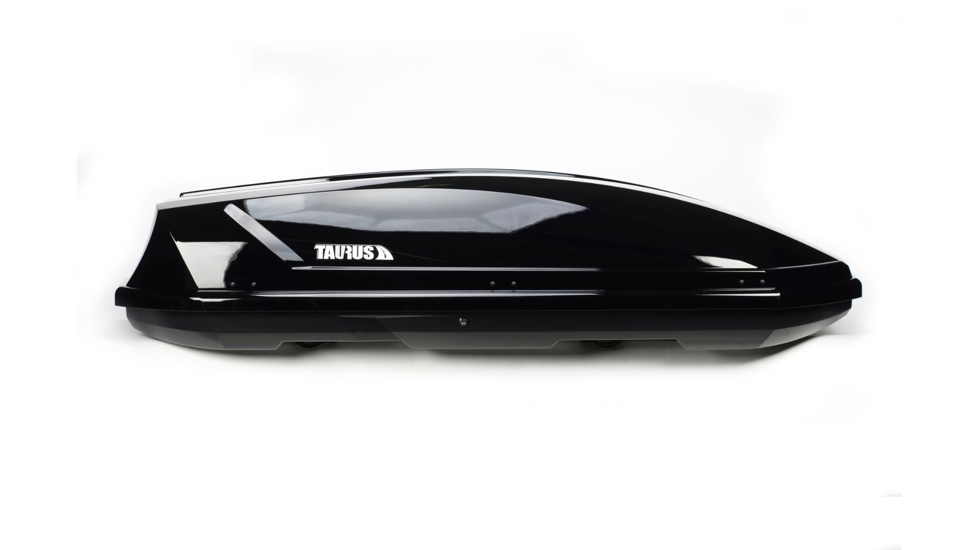Taurus strešný box Adventure (131 x 72 x 37) 295l. - čierny lesklý