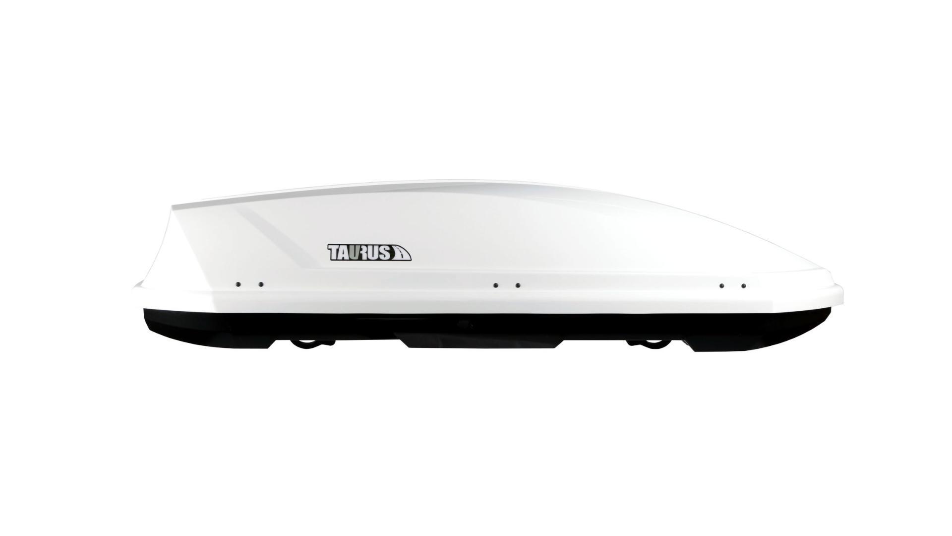 Taurus strešný box Adventure (190 x 67 x 42) 340l. - biely lesklý (obojstranne otvárateľný)