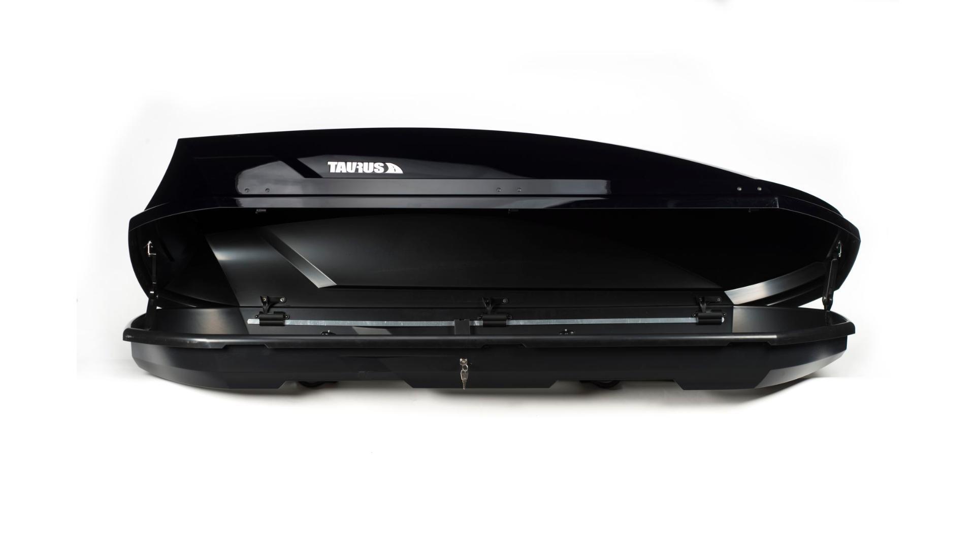 Taurus strešný box Adventure (205 x 84 x 46) 480l. - čierny lesklý ( obojstranne otvárateľný)