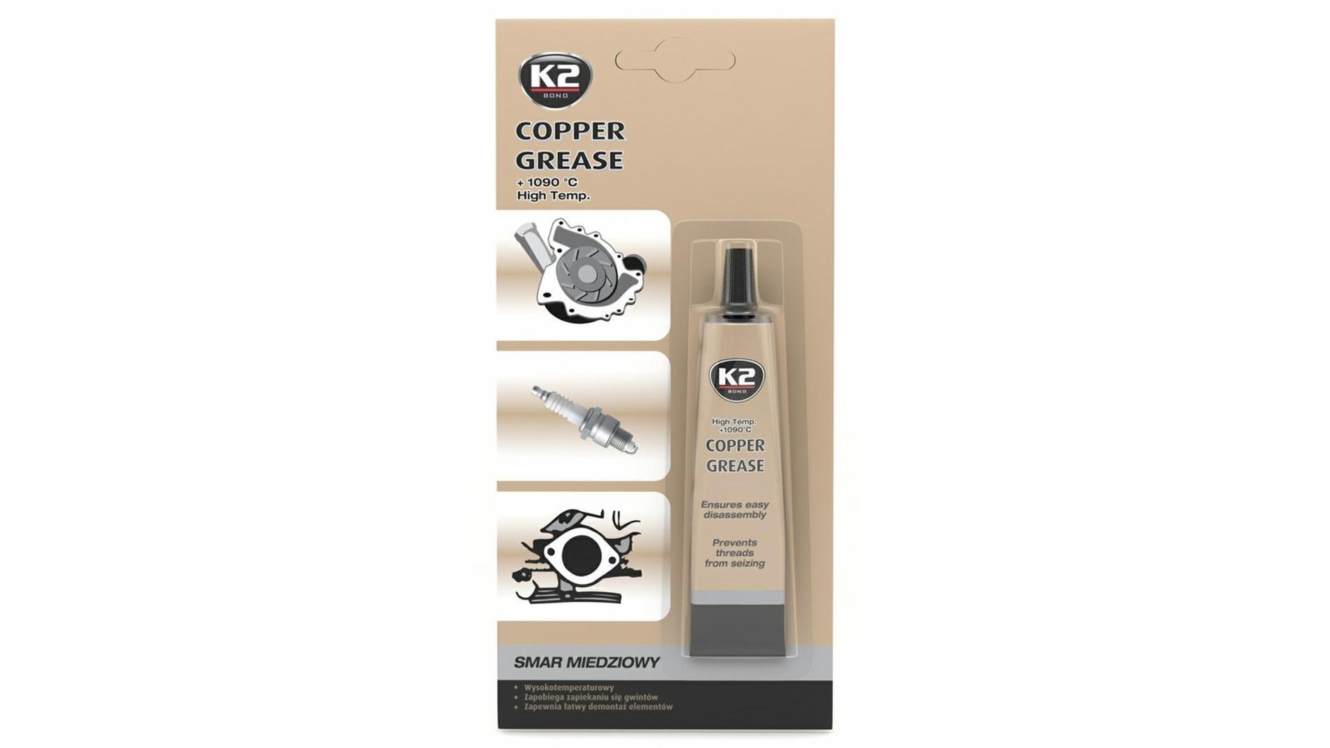 K2 COPPER GREASE 20 ml - medené mazivo pre tepelné namáhané spoje