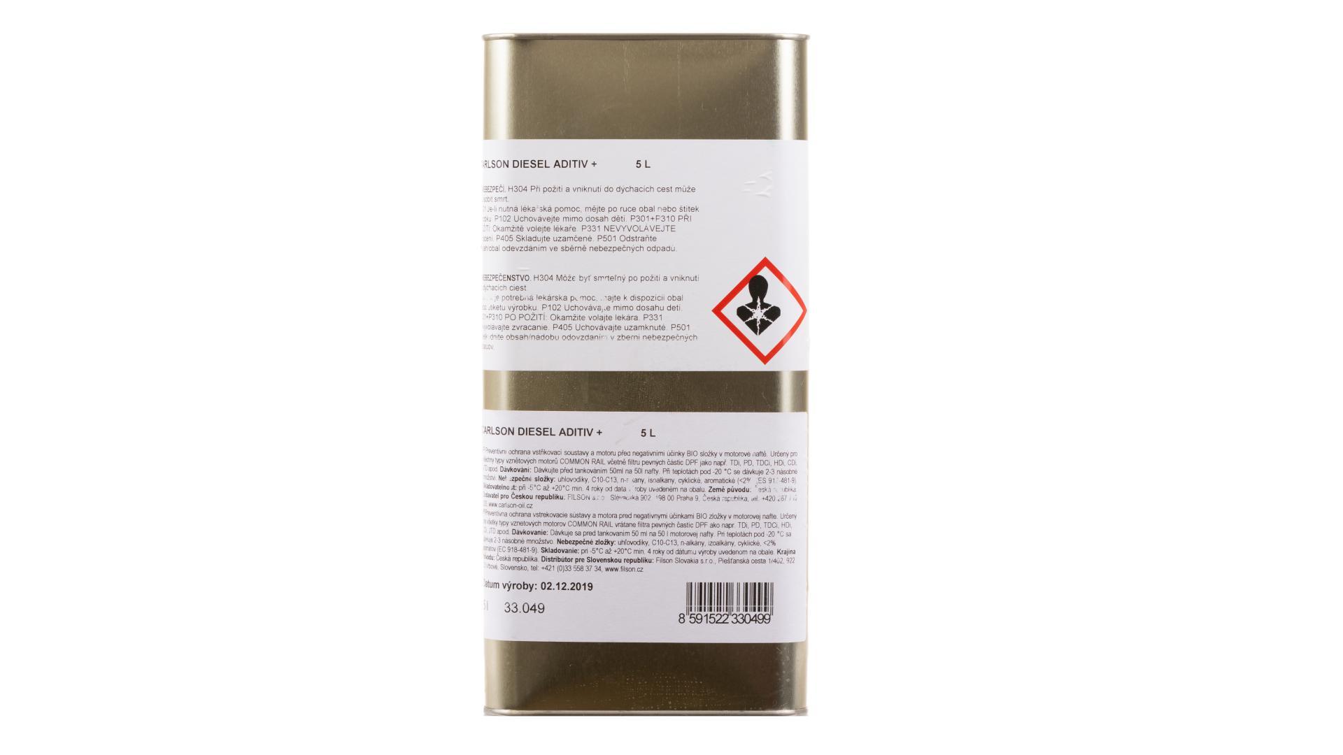CARLSON DIESEL ADITIV - Zimné aditívum do nafty - 5L