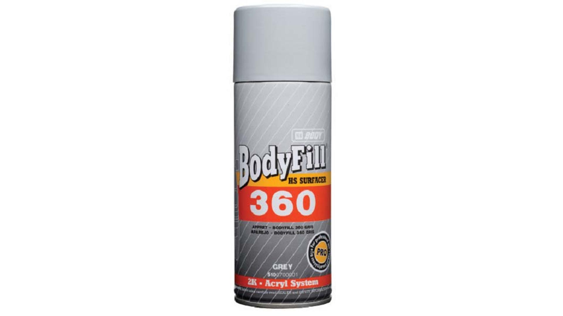 HB BODY fill 360 (2:1) plnič / antikorózny základ v spreji šedý 400ml
