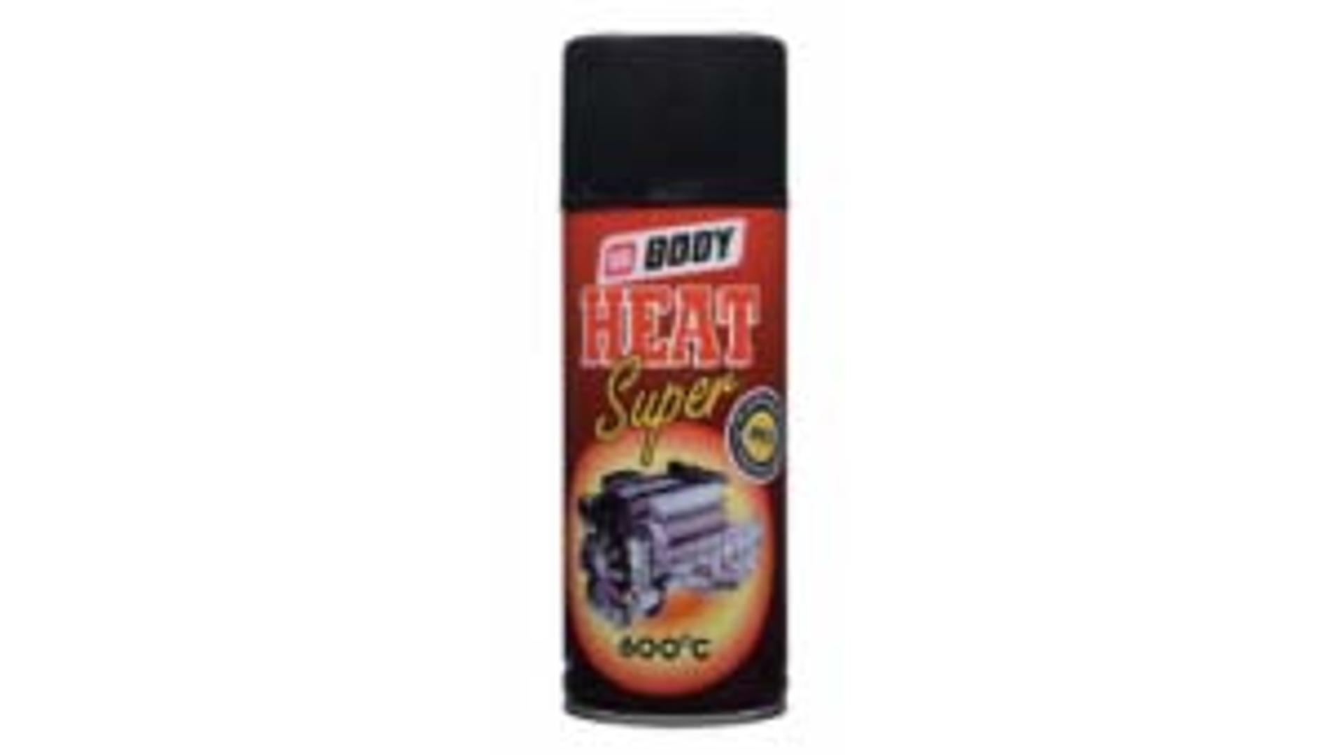 HB BODY 420 super heat - sprej do vysokých teplot 600C černý 400ml