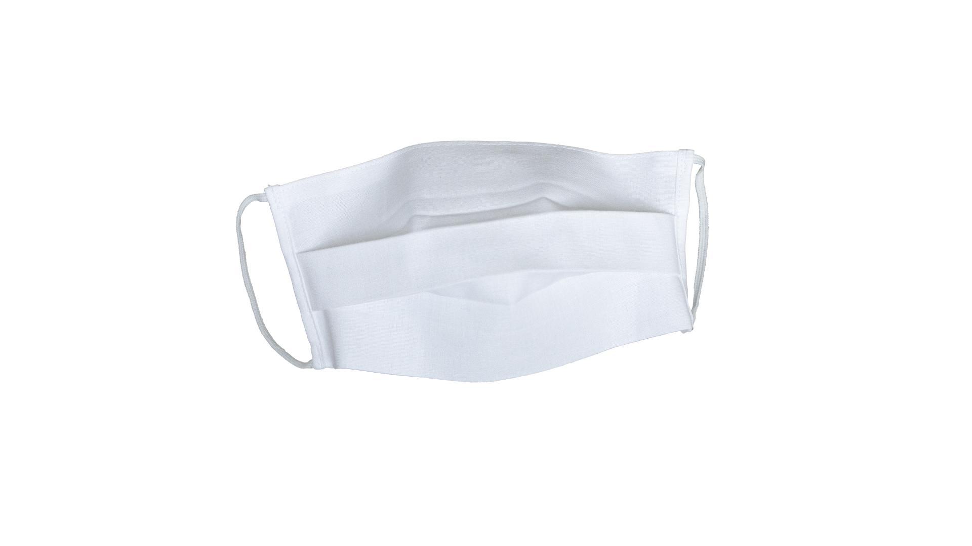 4CARS Dvojvrstvové ochranné bavlnené rúško biele  s gumičkou 1ks - väčšie
