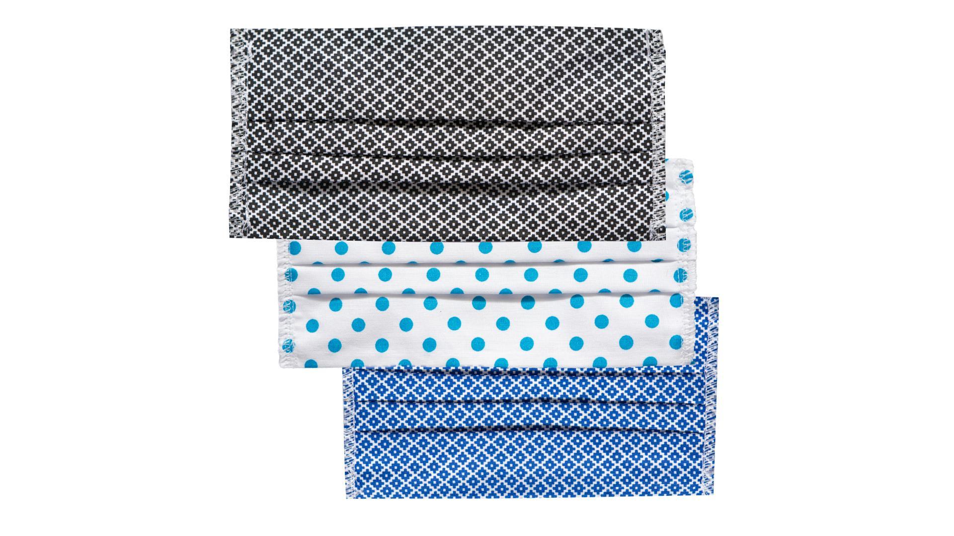 4CARS Dvojvrstvové ochranné bavlnené rúško 3ks - mix farieb
