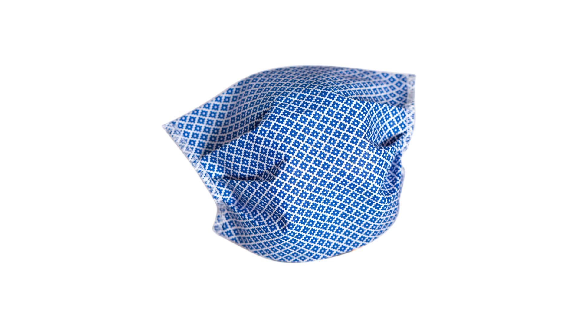 4CARS Dvojvrstvové ochranné bavlnené rúško modré s gumičkou 1ks - menšie