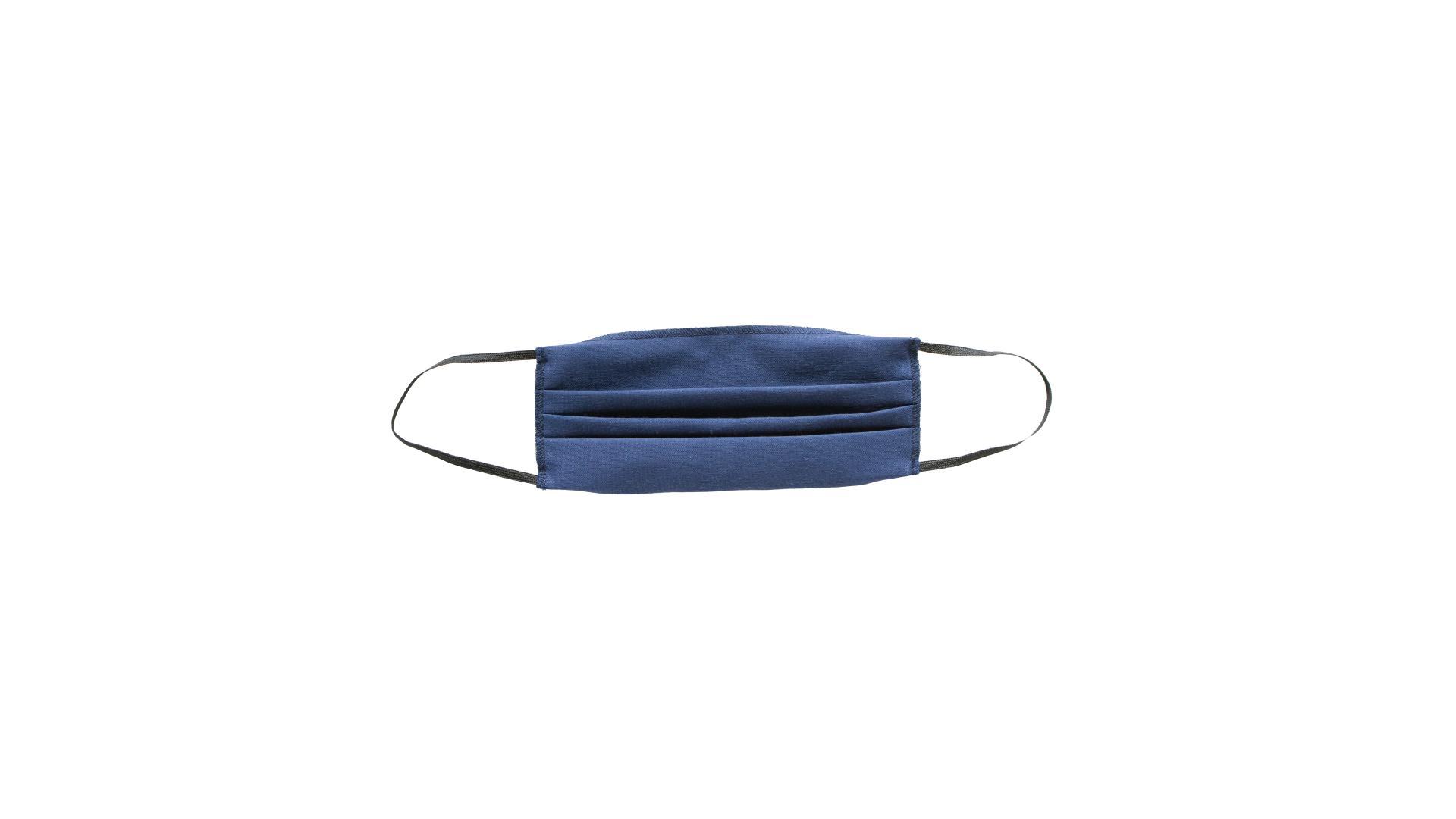 4CARS Dvojvrstvové bavlnené rúško modré bez vzoru s gumičkou 1ks