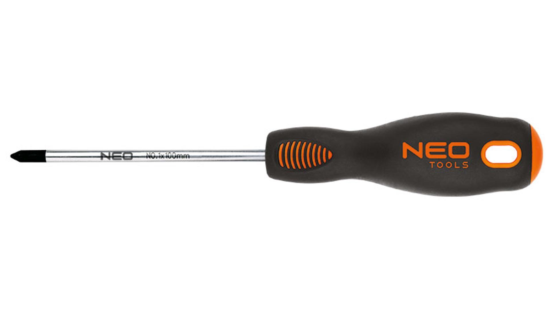 NEO Krížový skrutkovač PZ1 x 100 mm, S2