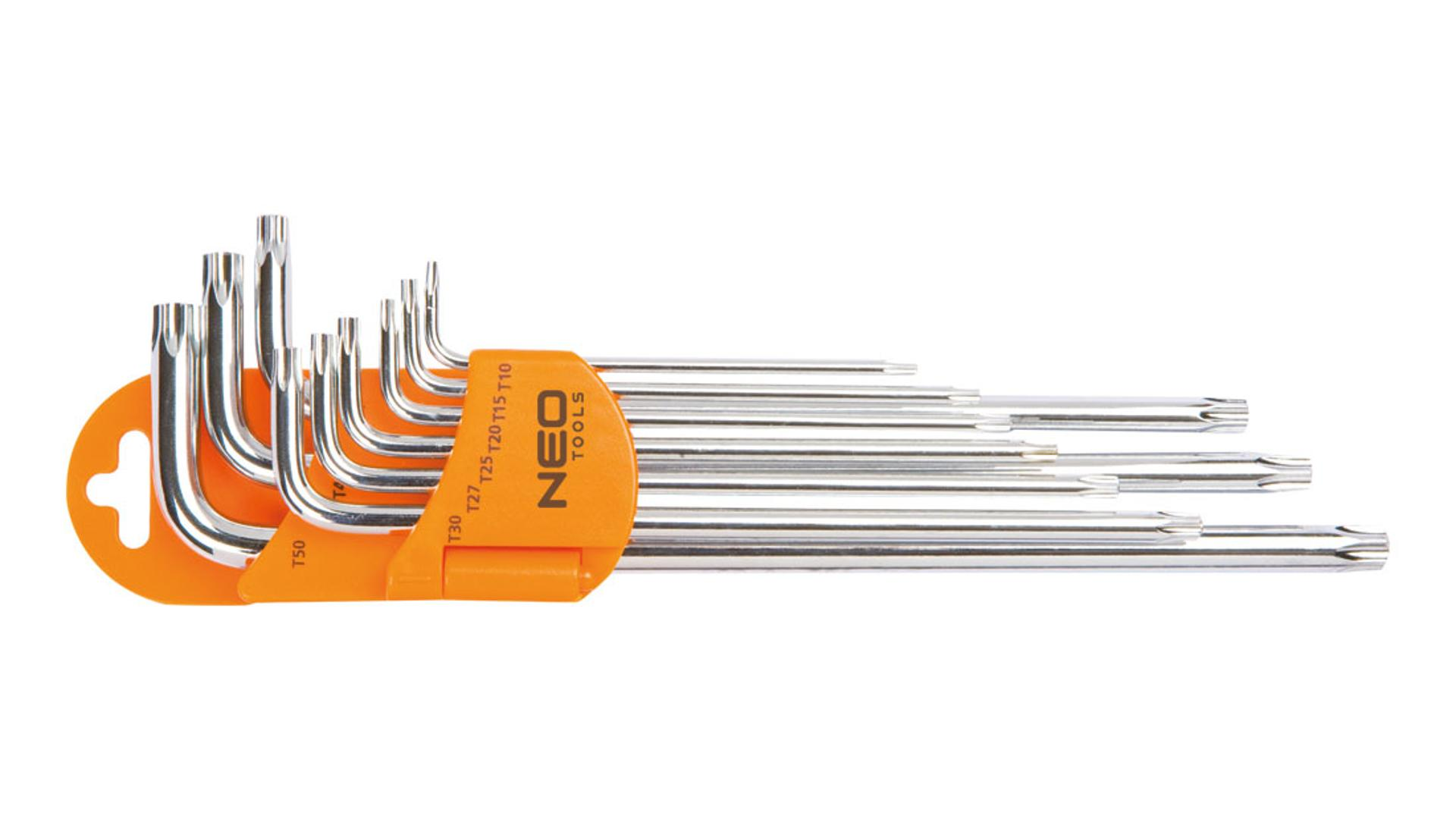 NEO Kľúče Torx s magnetom, súprava 9 ks
