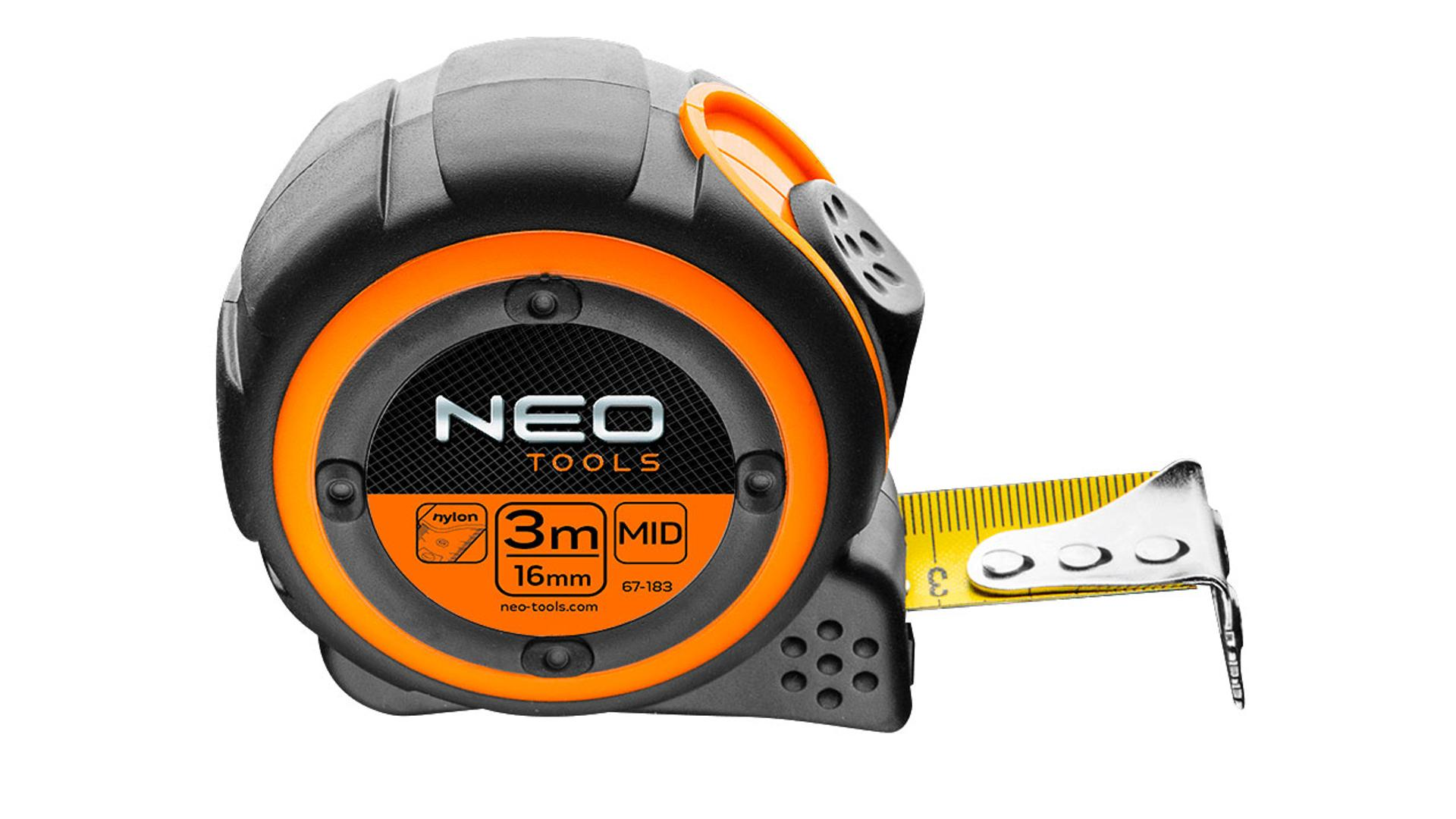 NEO Meter rolovací 5 m x 25 mm, magnetický háčik