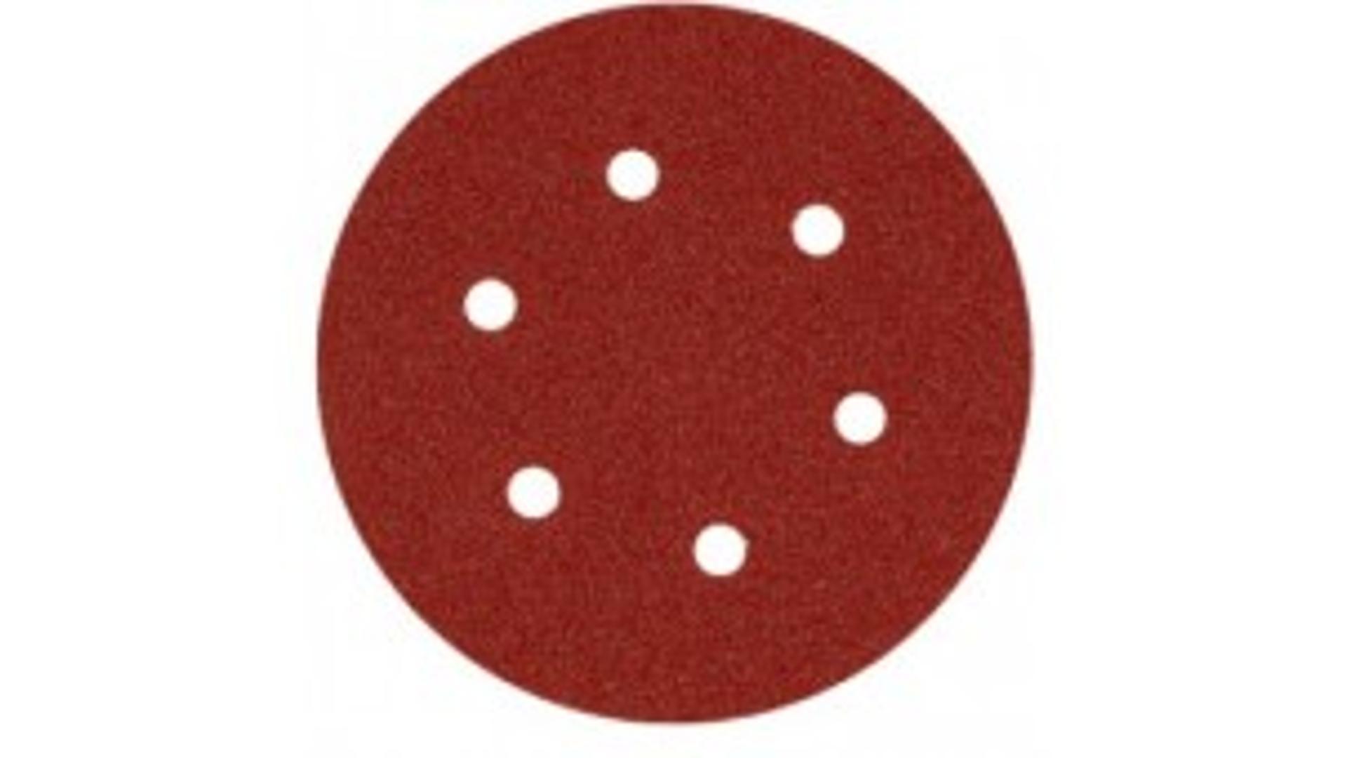 Smirdex 330 duroflex kruhový výsek 150mm 6 dier P80