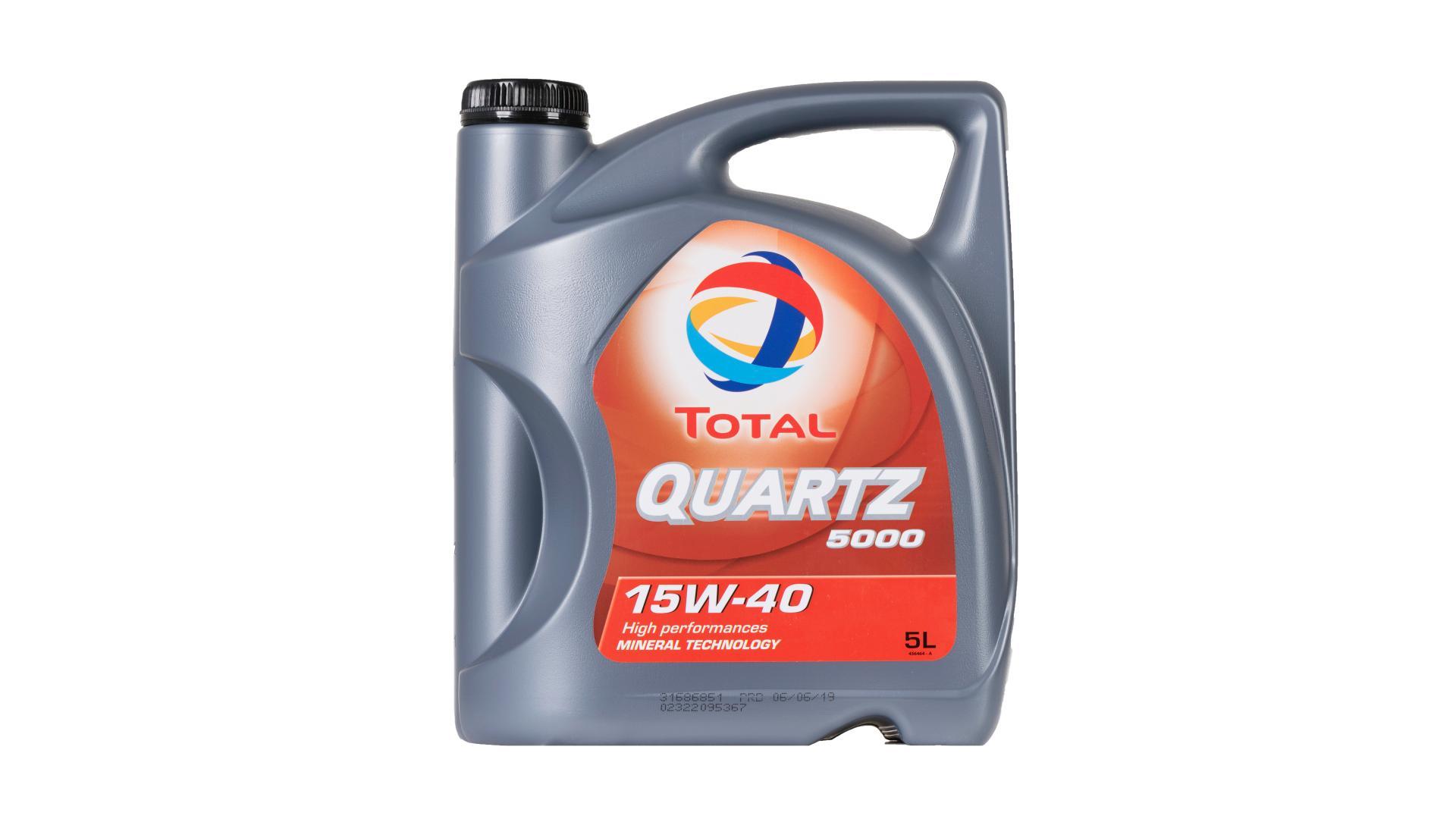 Total 15w-40 Quartz 5000 5L (148645)