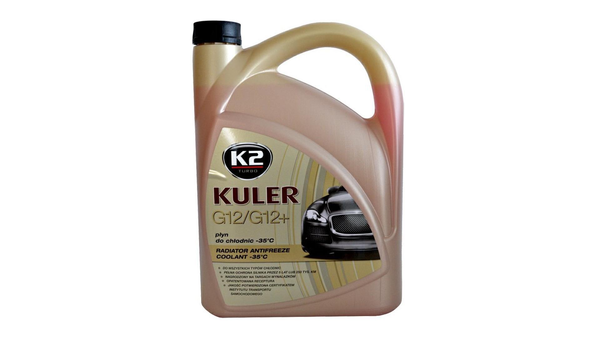 K2 Kuler G12 / G12 + ČERVENÁ - KONCENTRÁT 1 l - nemrznúca kvapalina do chladiča do -35 ° C