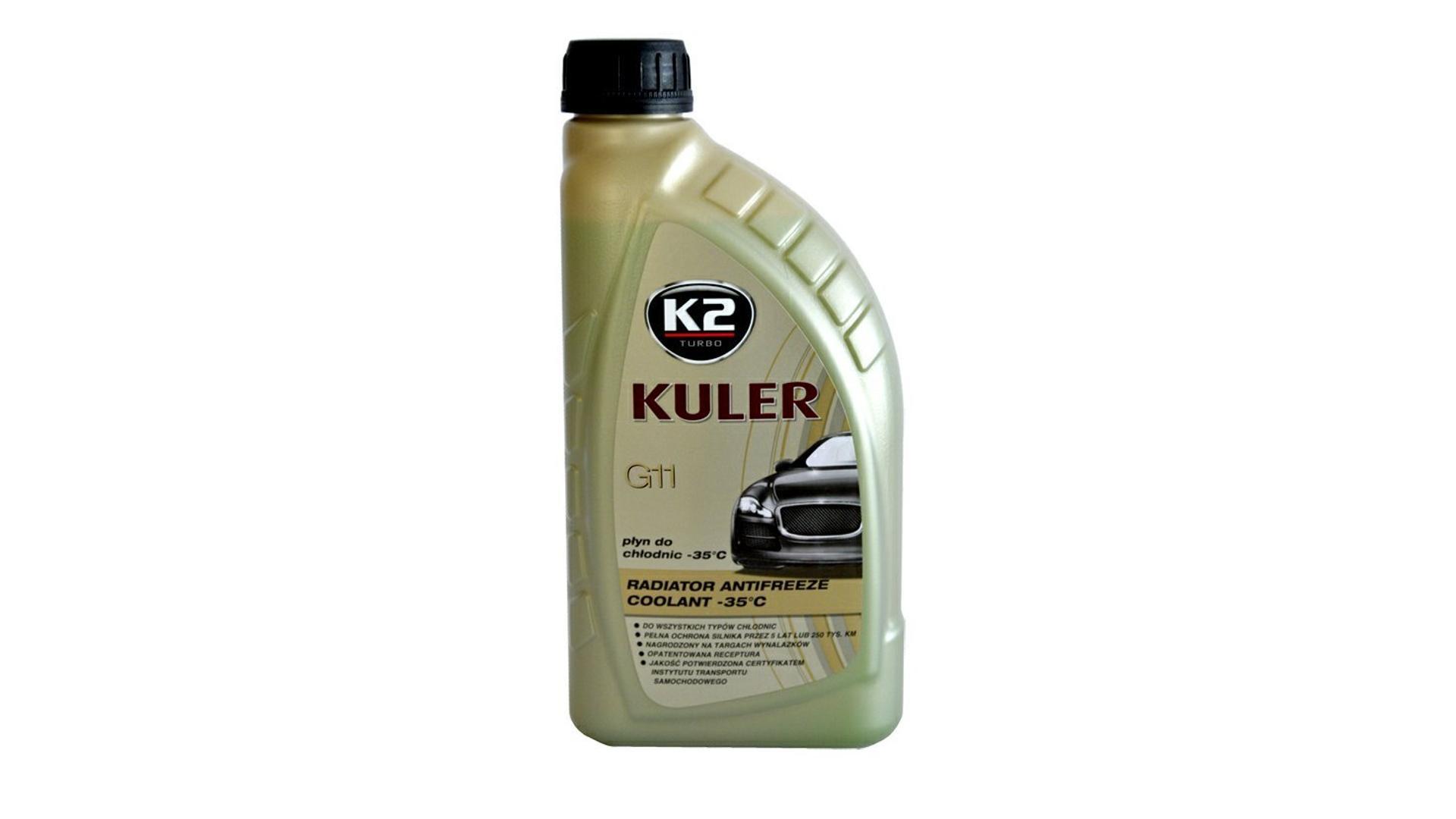 K2 Kuler G11 MODRÁ 1 l - nemrznúca kvapalina do chladiča do -35 ° C