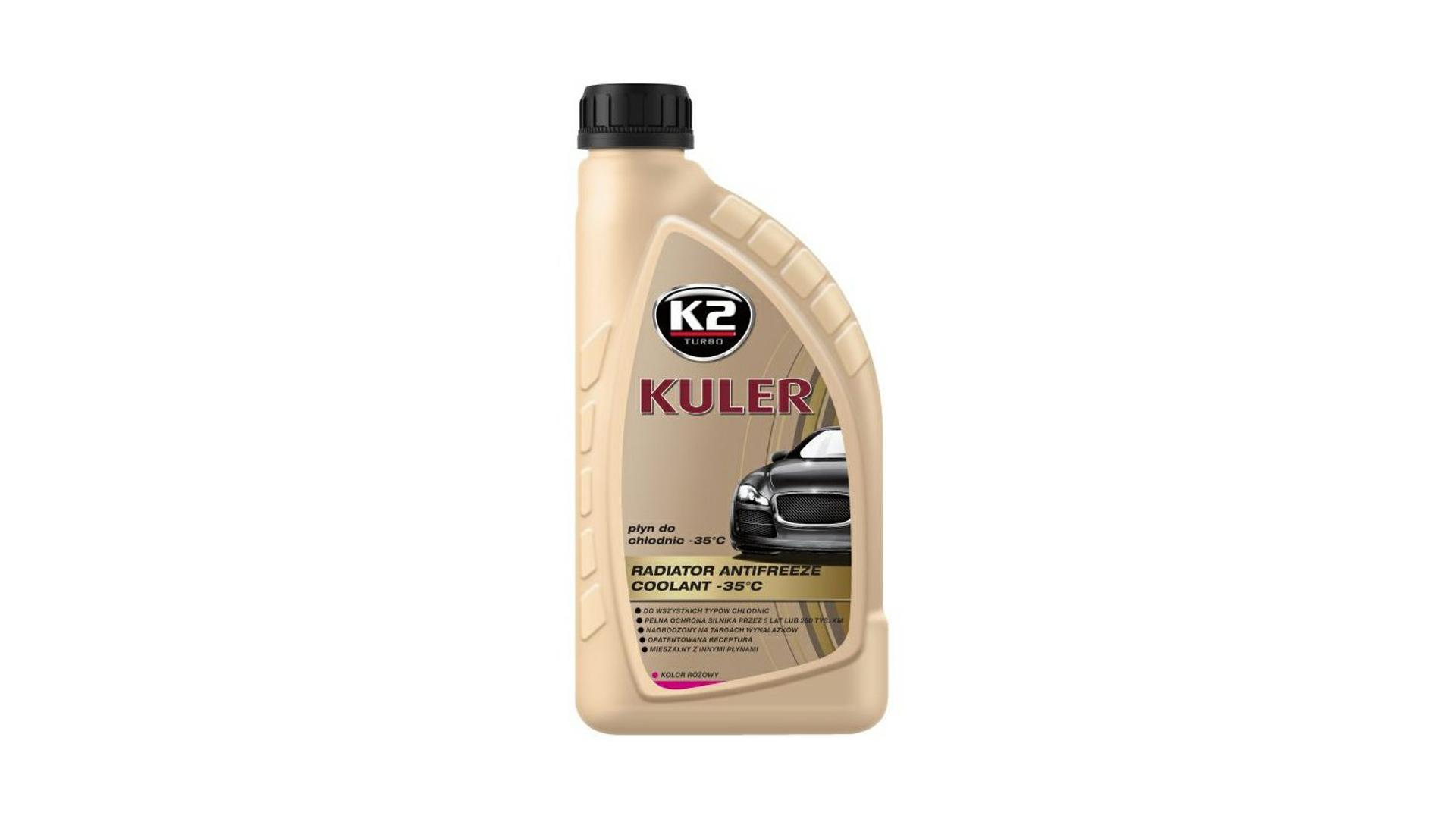 K2 Kuler RUŽOVÁ 1 l - nemrznúca kvapalina do chladiča do -35 ° C