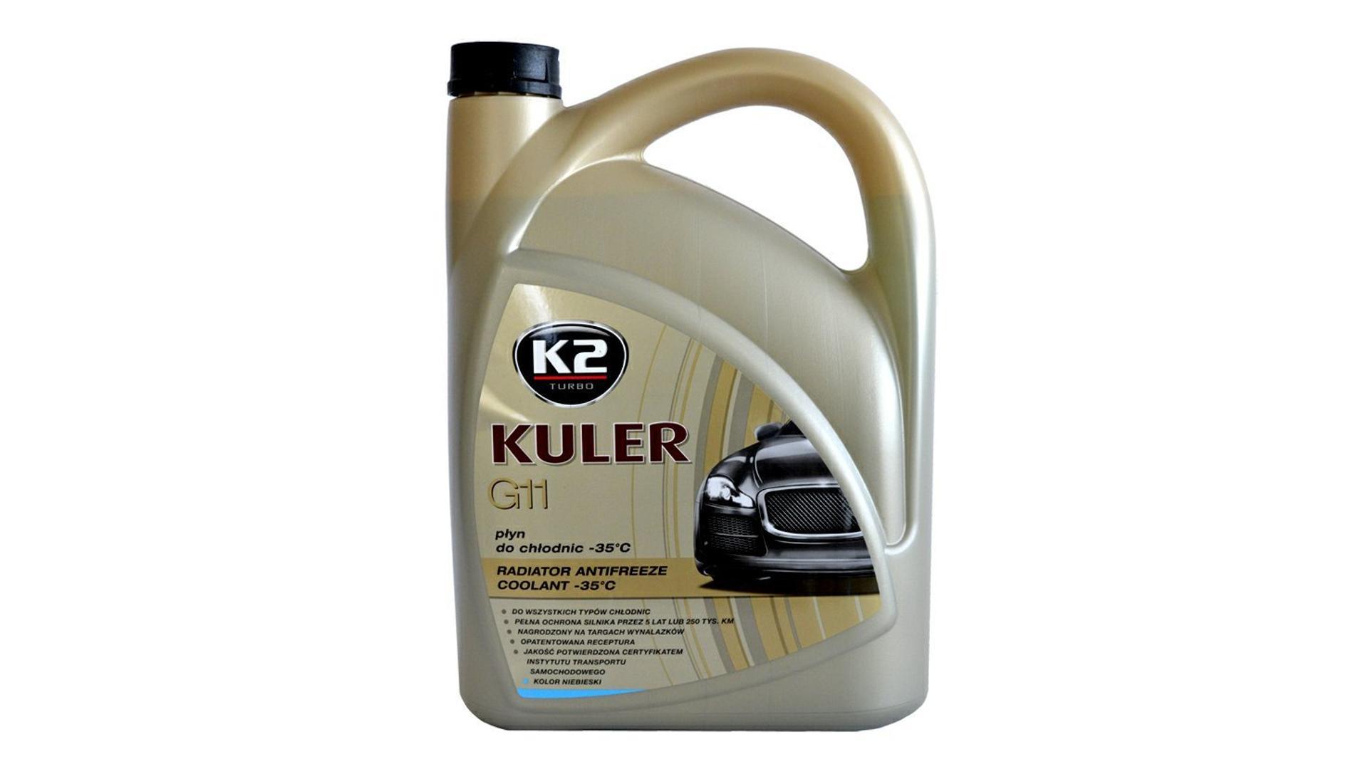 K2 Kuler G11 MODRÁ 5 l - nemrznúca kvapalina do chladiča do -35 ° C