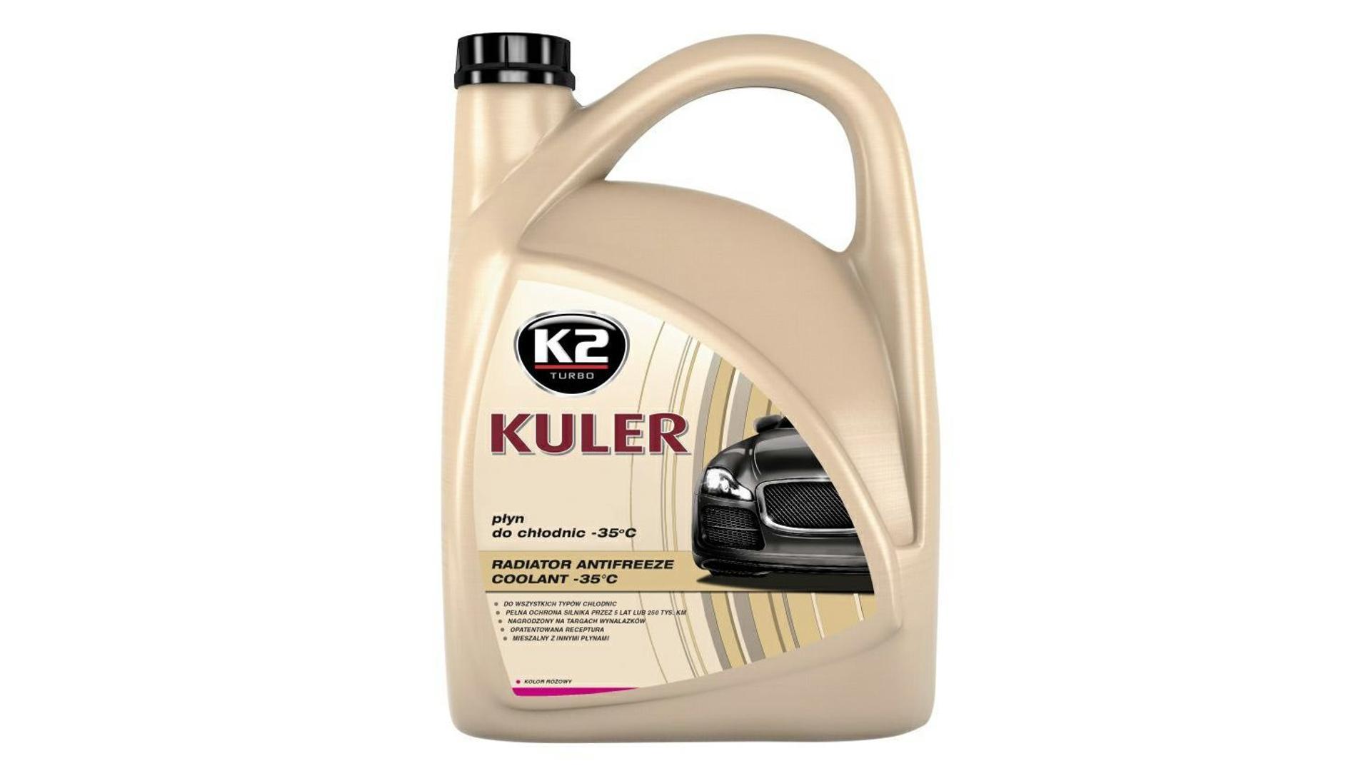 K2 Kuler RUŽOVÁ 5 l - nemrznúca kvapalina do chladiča do -35 ° C