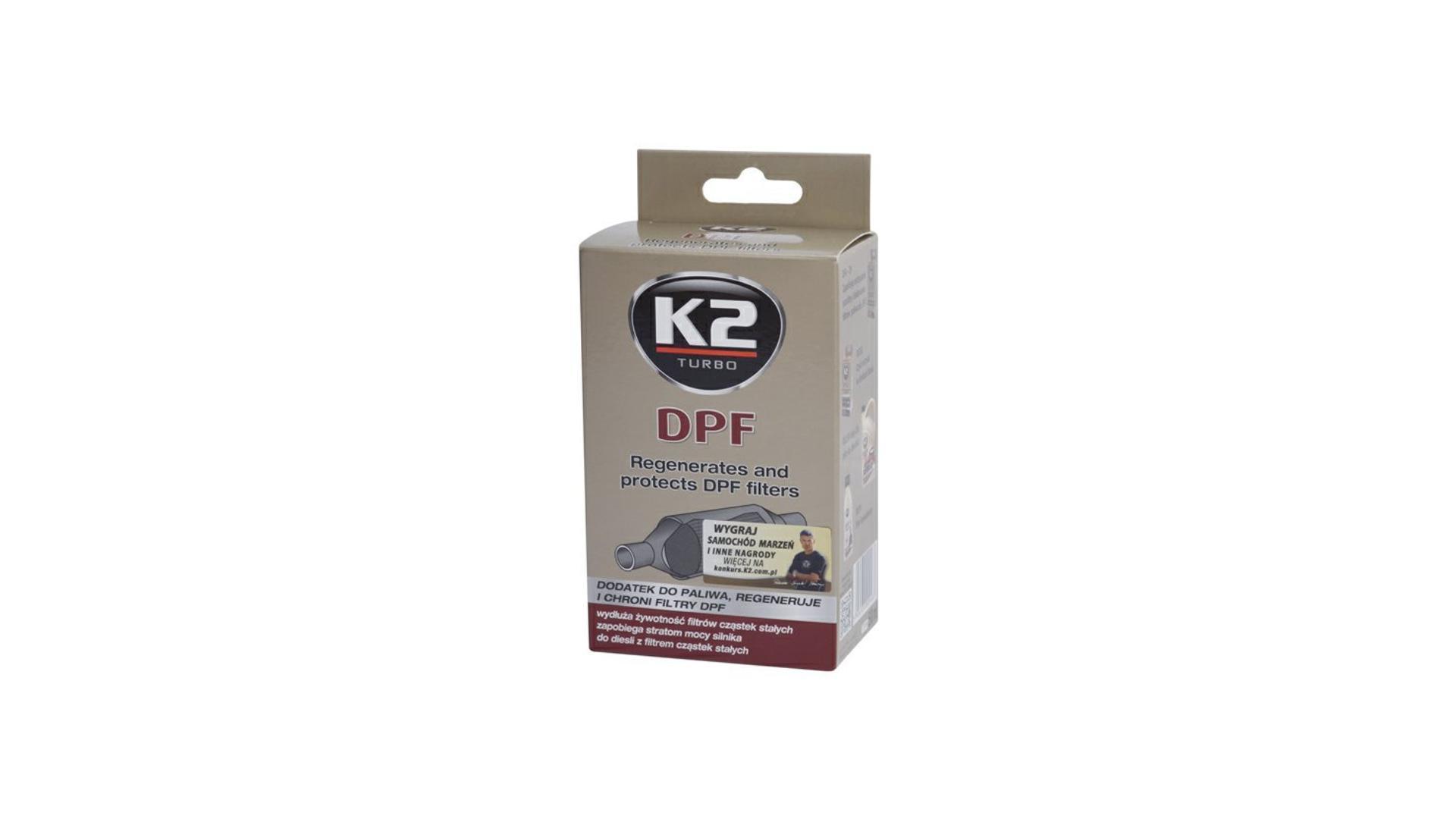 K2 DPF 50 ml - prídavok do paliva, regeneruje a chráni filtre